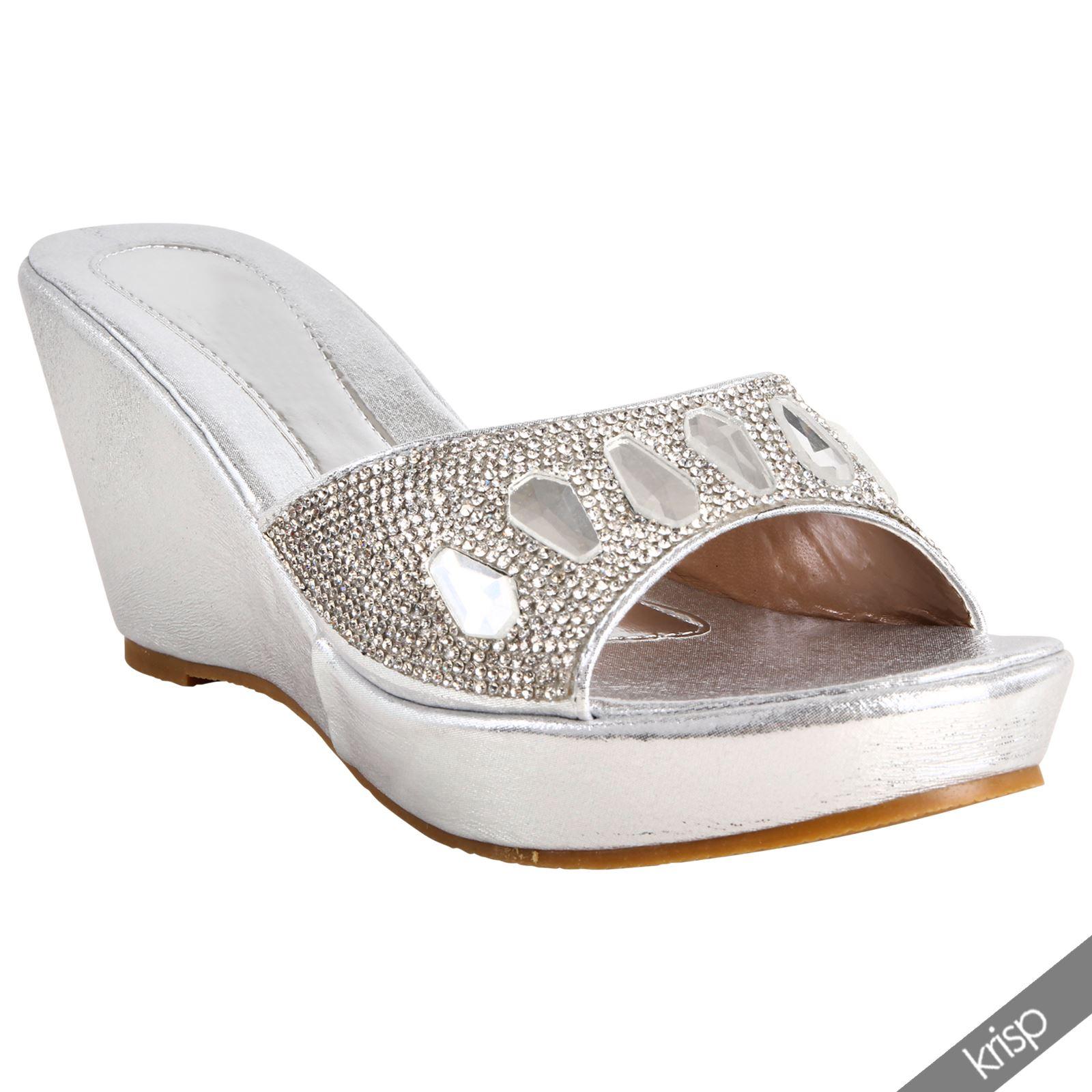 Glitter Wedge Heel Shoes