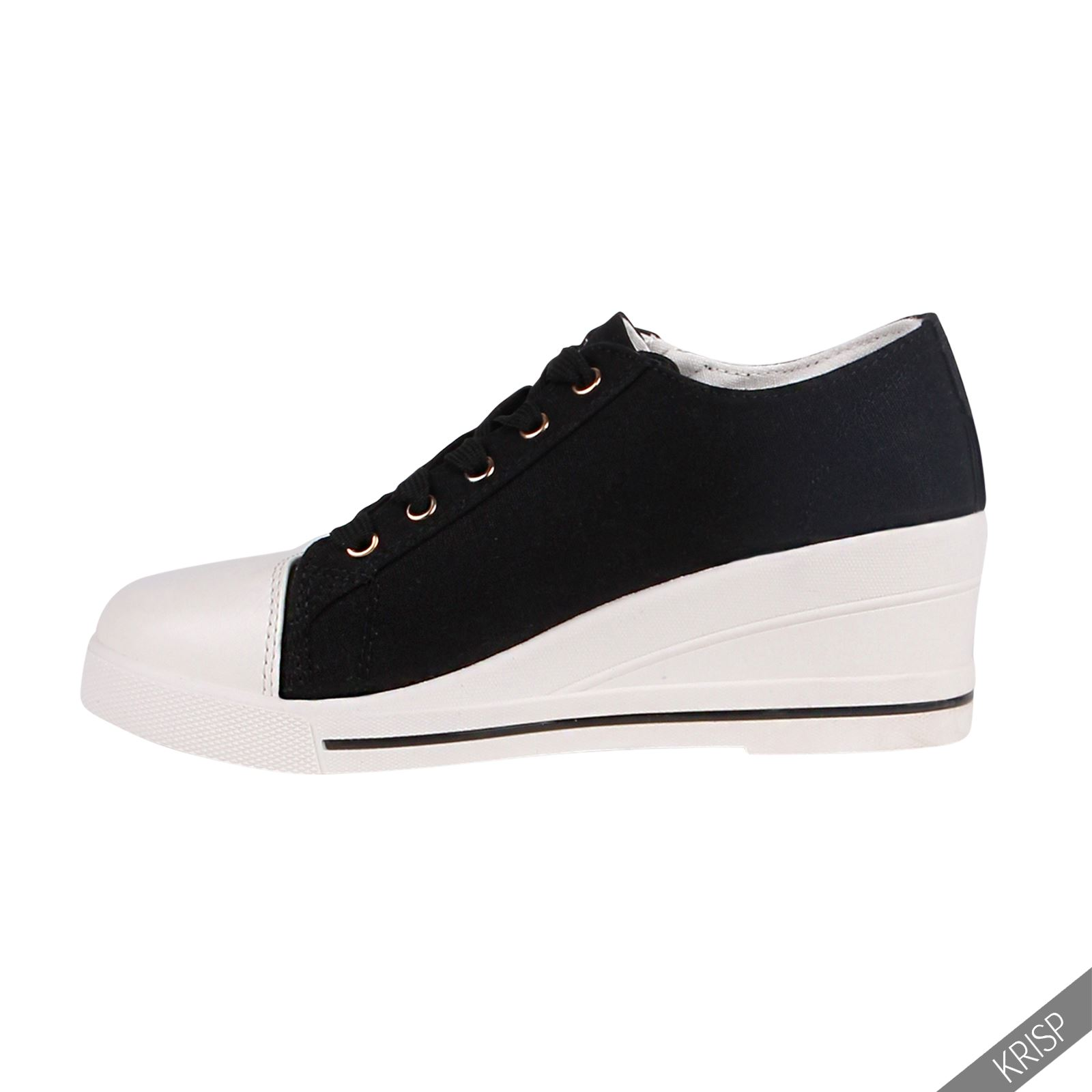 femmes baskets brillantes haut talon compens strass sneakers taille 36 41 ebay. Black Bedroom Furniture Sets. Home Design Ideas