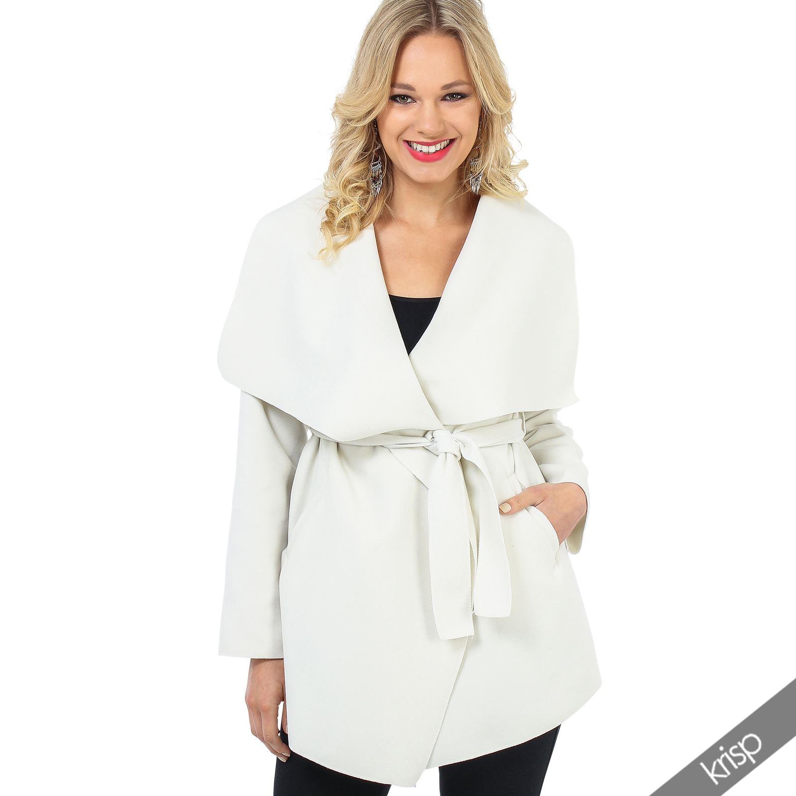 damen kurzer mantel fleece jacke cardigan cape sommermantel breiter kragen weit ebay. Black Bedroom Furniture Sets. Home Design Ideas