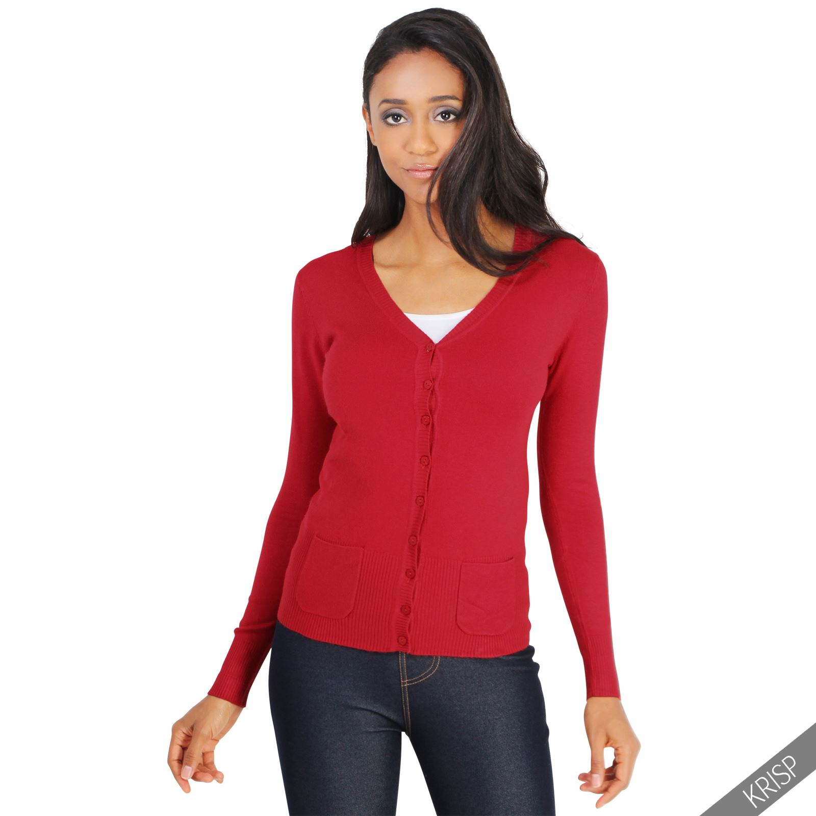 Womens Classic Cashmere Cardigan Soft Knit Button Sweater ...
