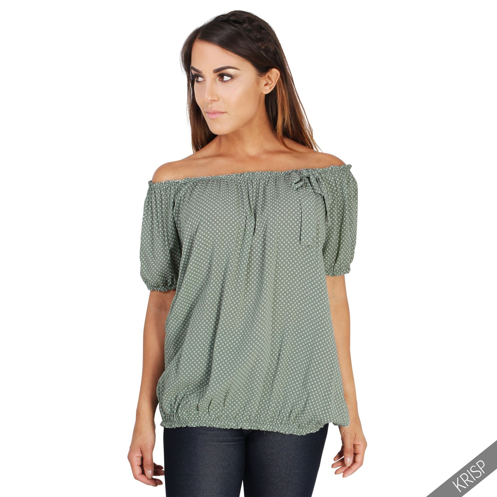 damen leichte gemusterte bluse oversize fit ballonbluse t shirt top kurzarm ebay. Black Bedroom Furniture Sets. Home Design Ideas