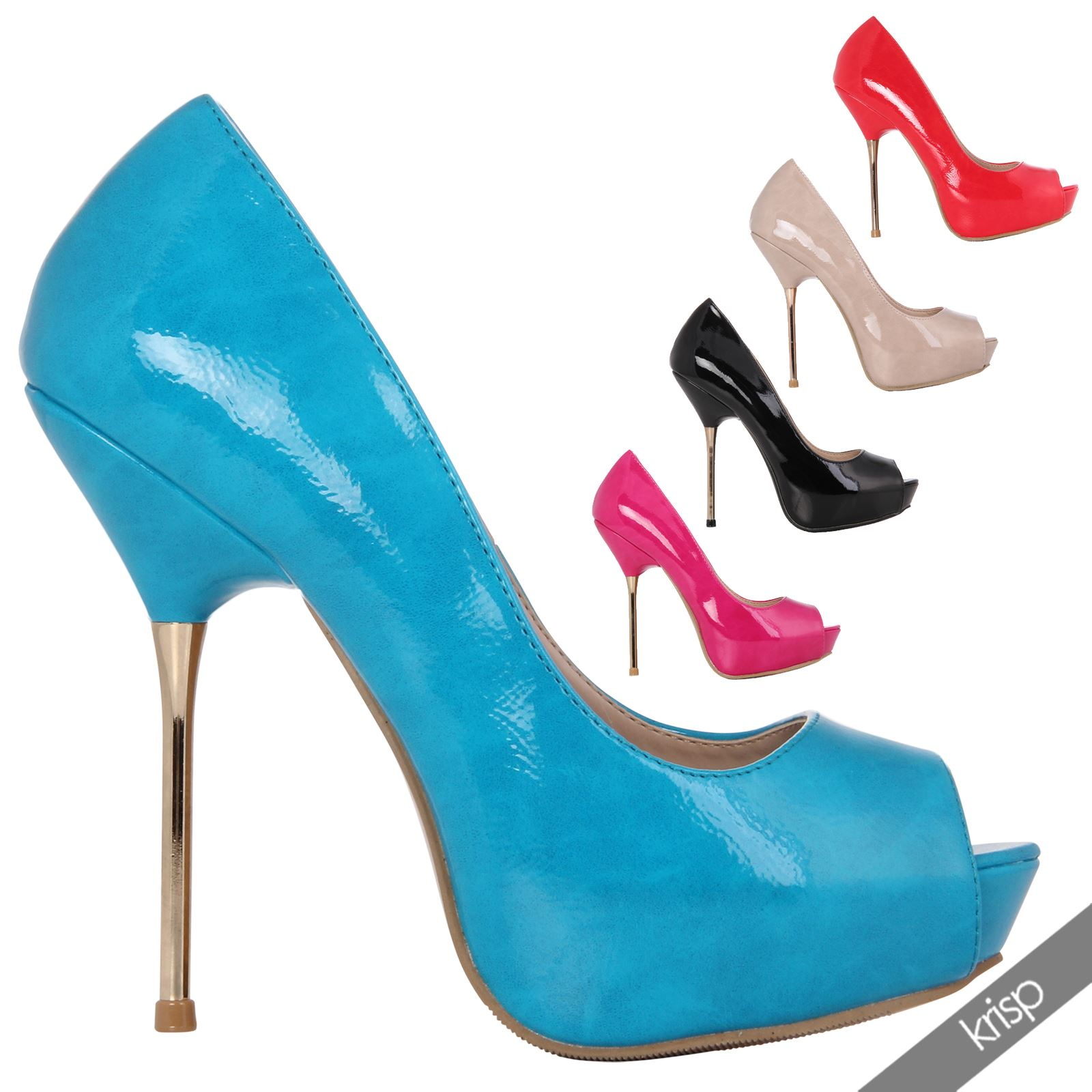 Womens Sexy Slim Pin Needle Stiletto High Heel Peep Toe ...