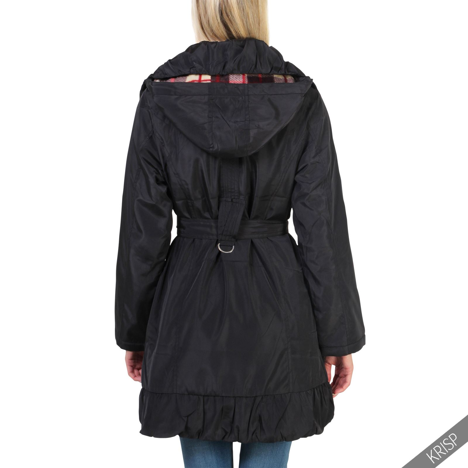 Women Ladies Detachable Hood Warm Long Winter Parka Puffer