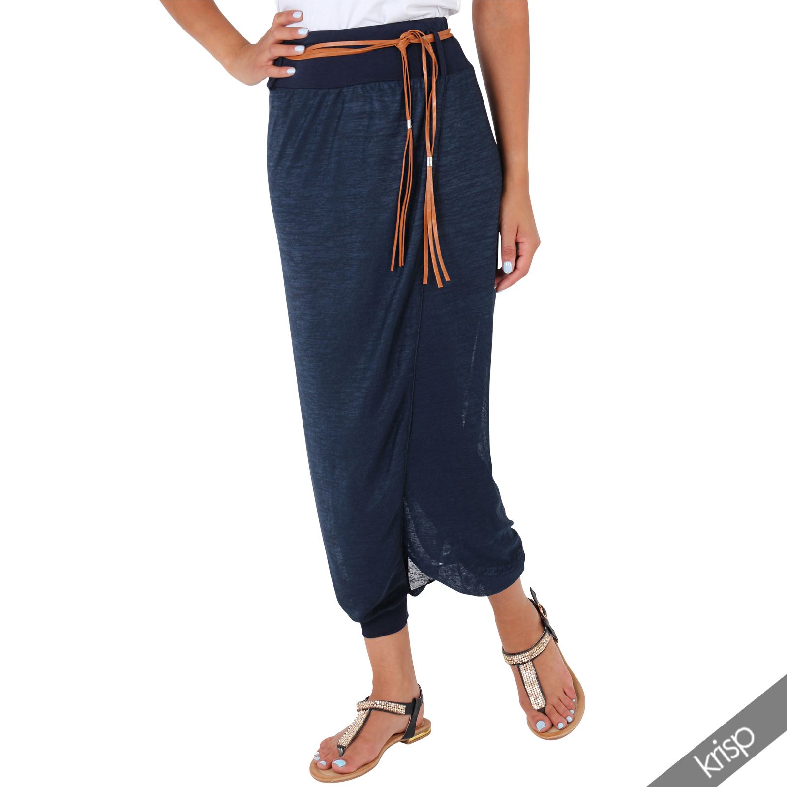damen baggy pants sommerhose harem aladdin stil pluderhose hosenrock yoga ebay. Black Bedroom Furniture Sets. Home Design Ideas