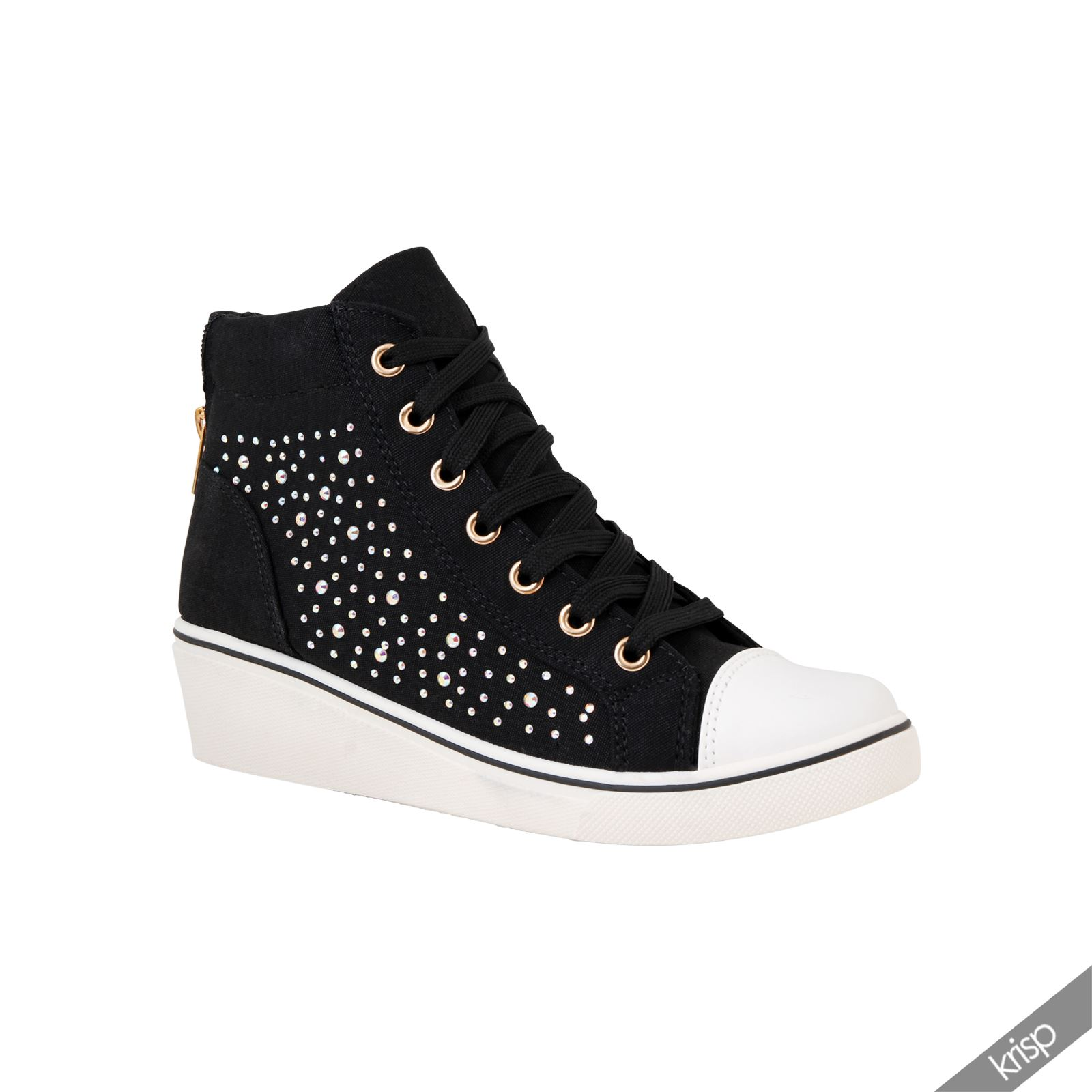 High Heel Wedge Sneakers For Women