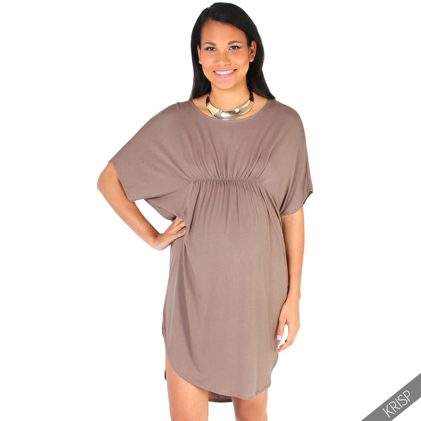 Maternity womens empire line short sleeve top long loose t Women s long sleeve shirt dress