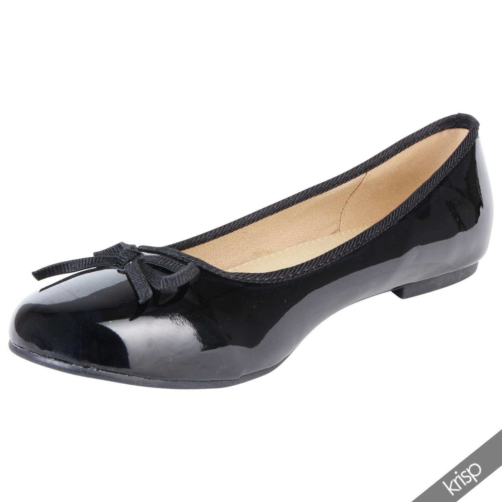 Plain Leather Flat Shoes