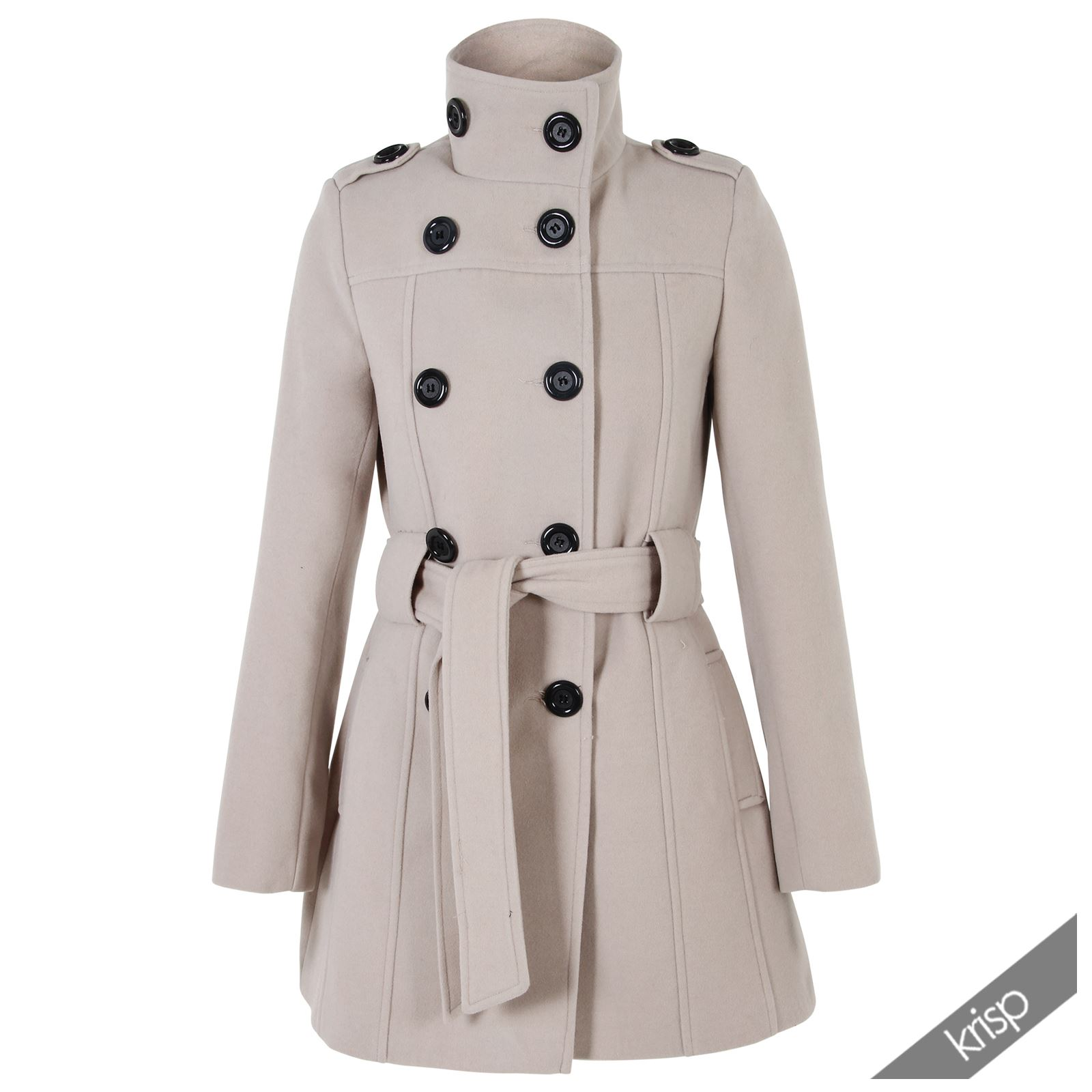 Womens double breasted military coat