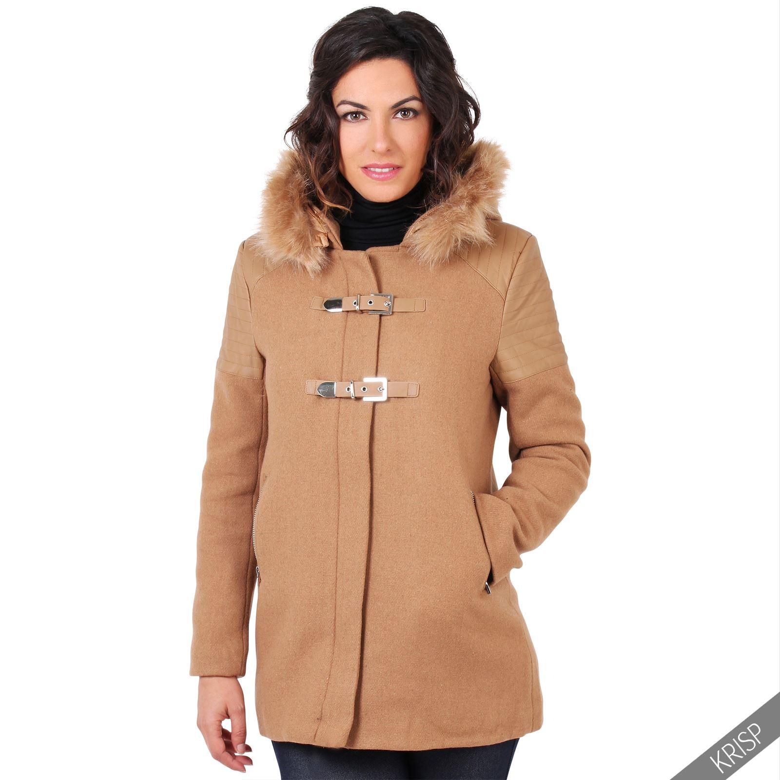 Womens duffle coat wool