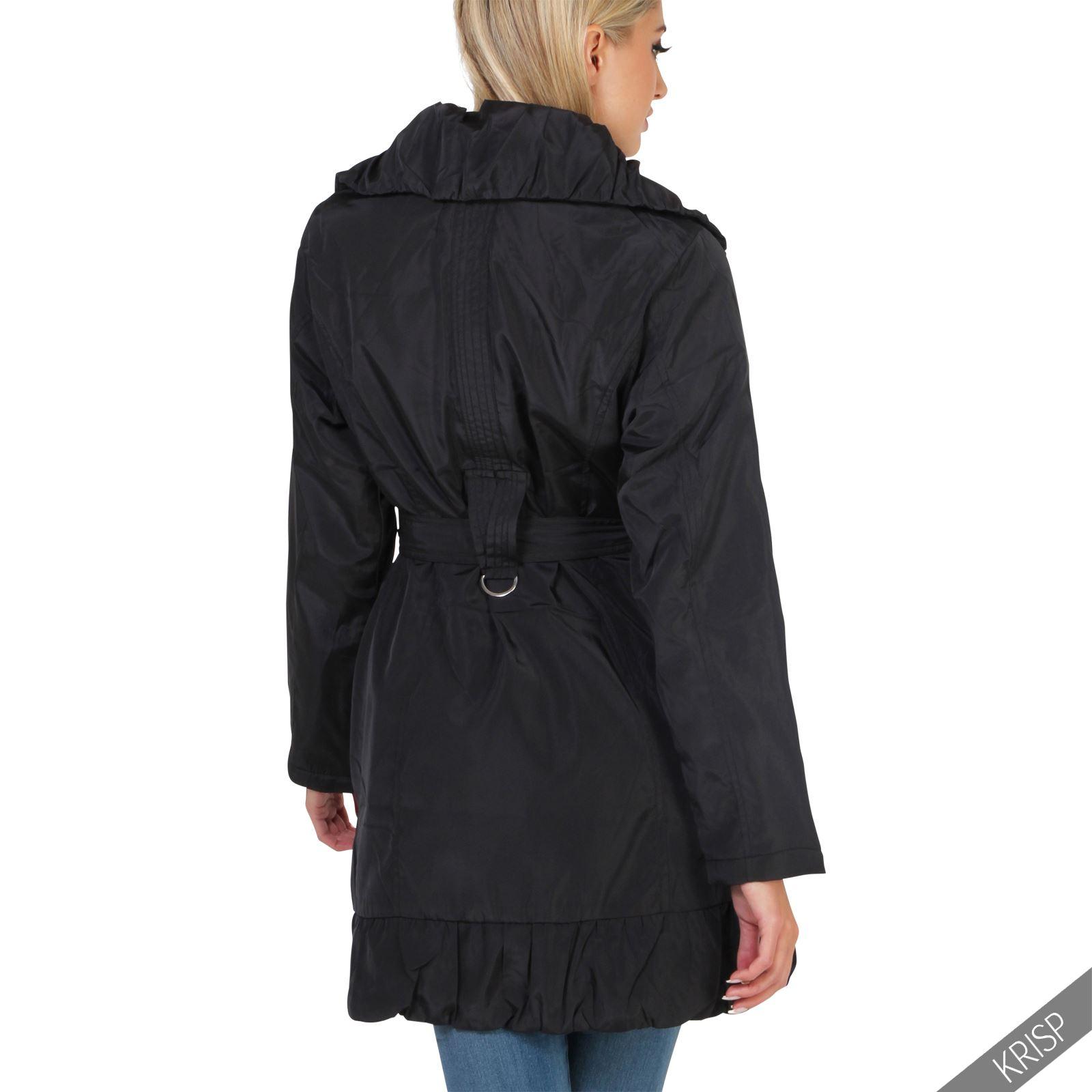 damen parka winter mantel jacke warmes karo fleece. Black Bedroom Furniture Sets. Home Design Ideas