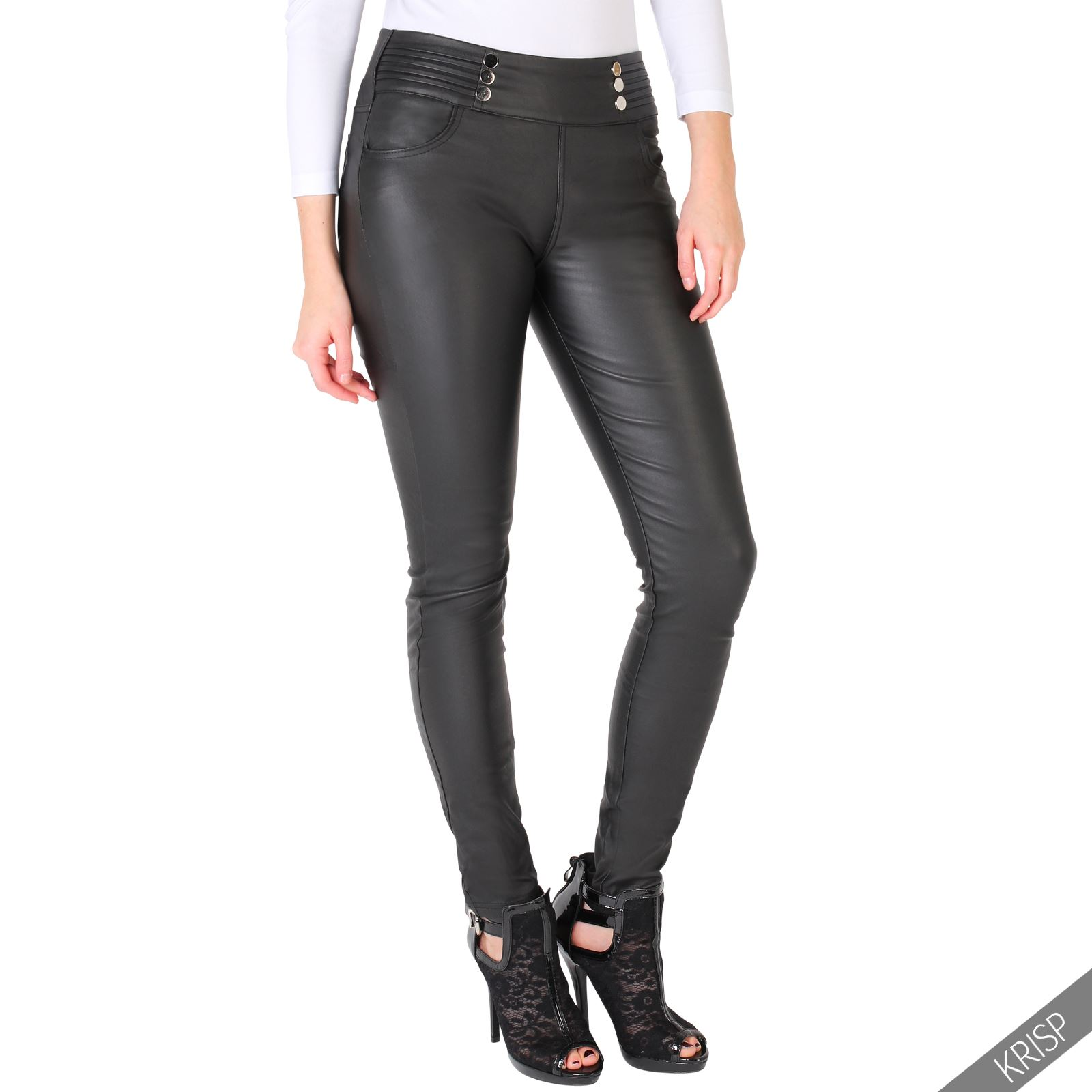 Beautiful Women39s Black Leather Skinny Pants
