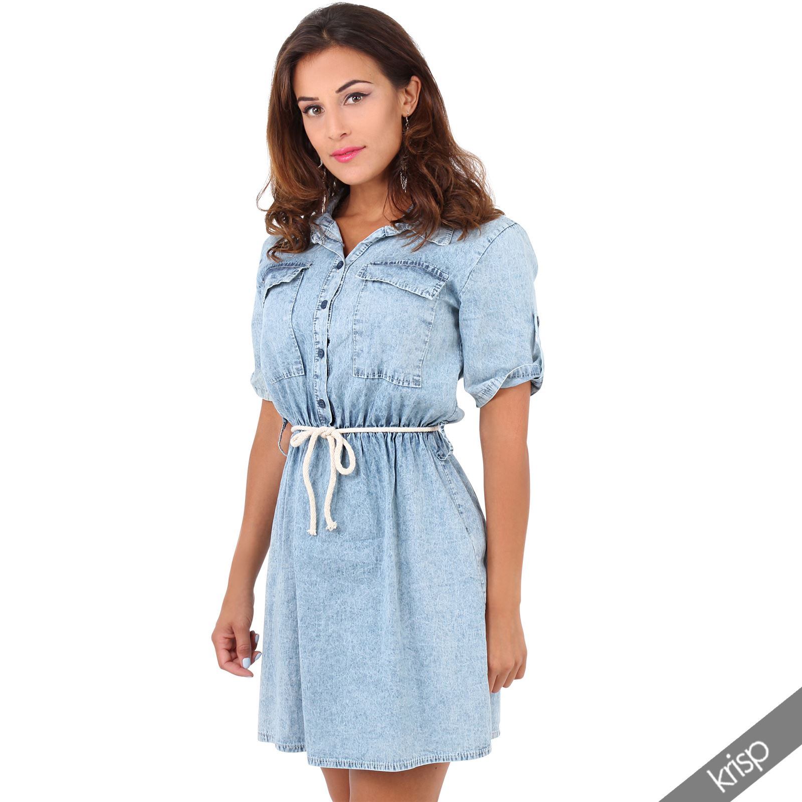 New Designer Brand Womens Belted Shirt Dress For Women  Dressesbloger