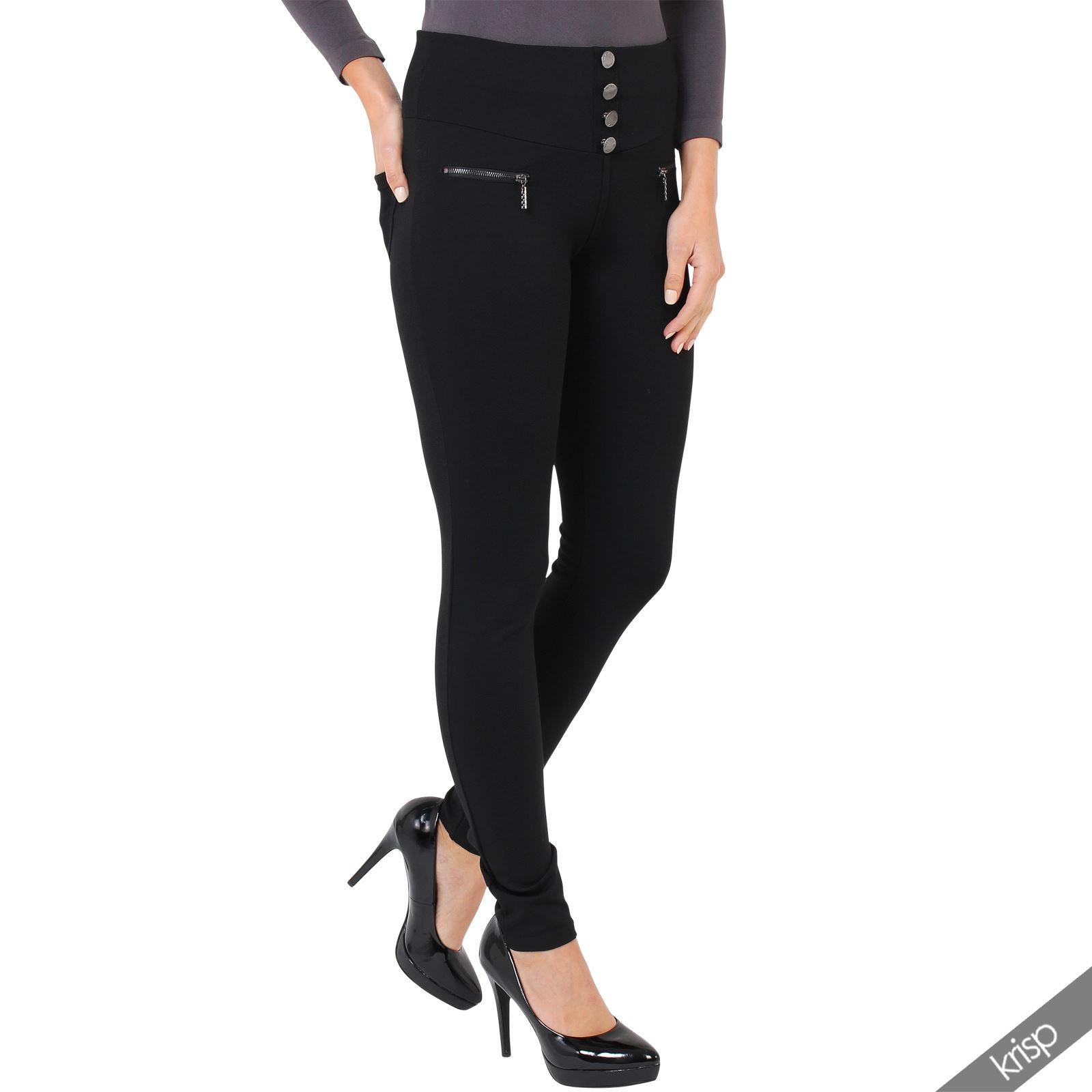womens tailored high waist smart stretch jeggings leggings. Black Bedroom Furniture Sets. Home Design Ideas