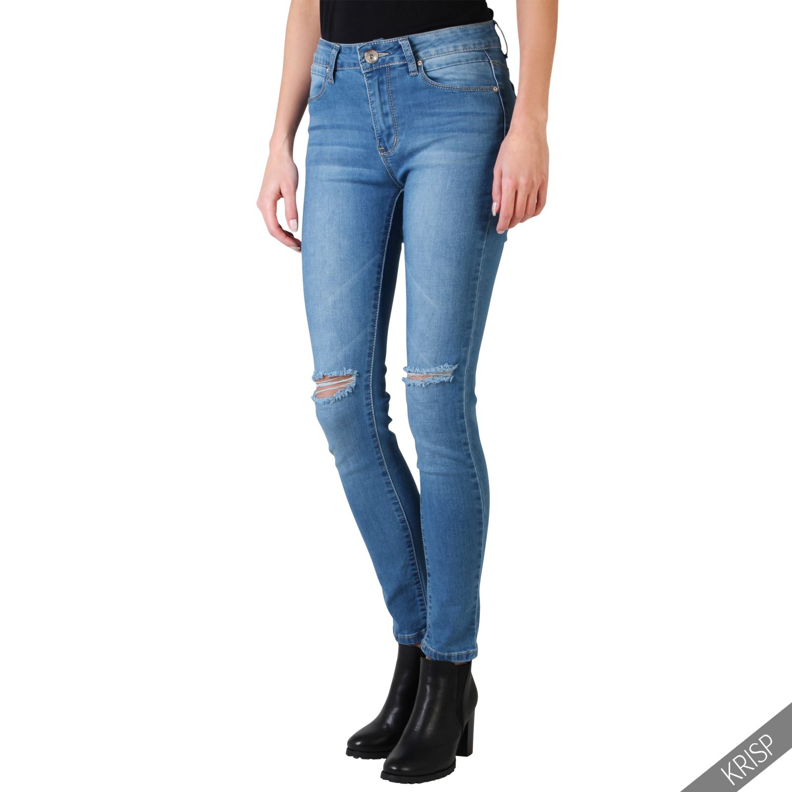 Girls Skinny Jeans Want the skinny on the latest jean fashion? Hot Topic has the latest looks for skinny jeans. We think the only thing that should be distressed in your life is your jeans. Check out these black ripped skinny jeans. Or go old school with some acid wash skinny jeans.