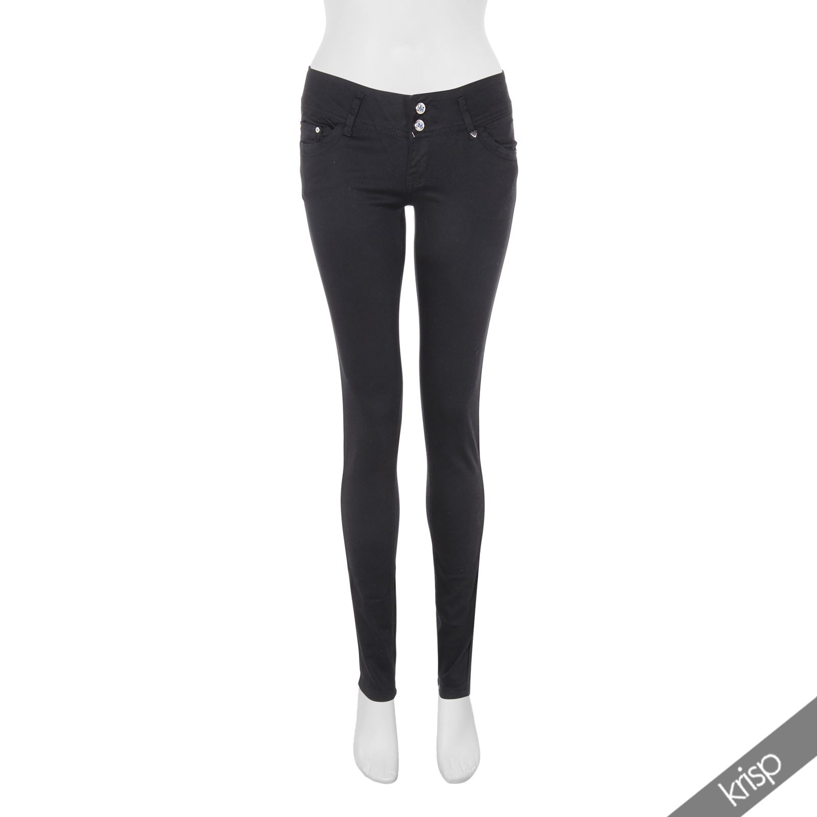 damen stretch hosen skinny jeans h fthosen leggings jeggings slim schwarz wei ebay. Black Bedroom Furniture Sets. Home Design Ideas