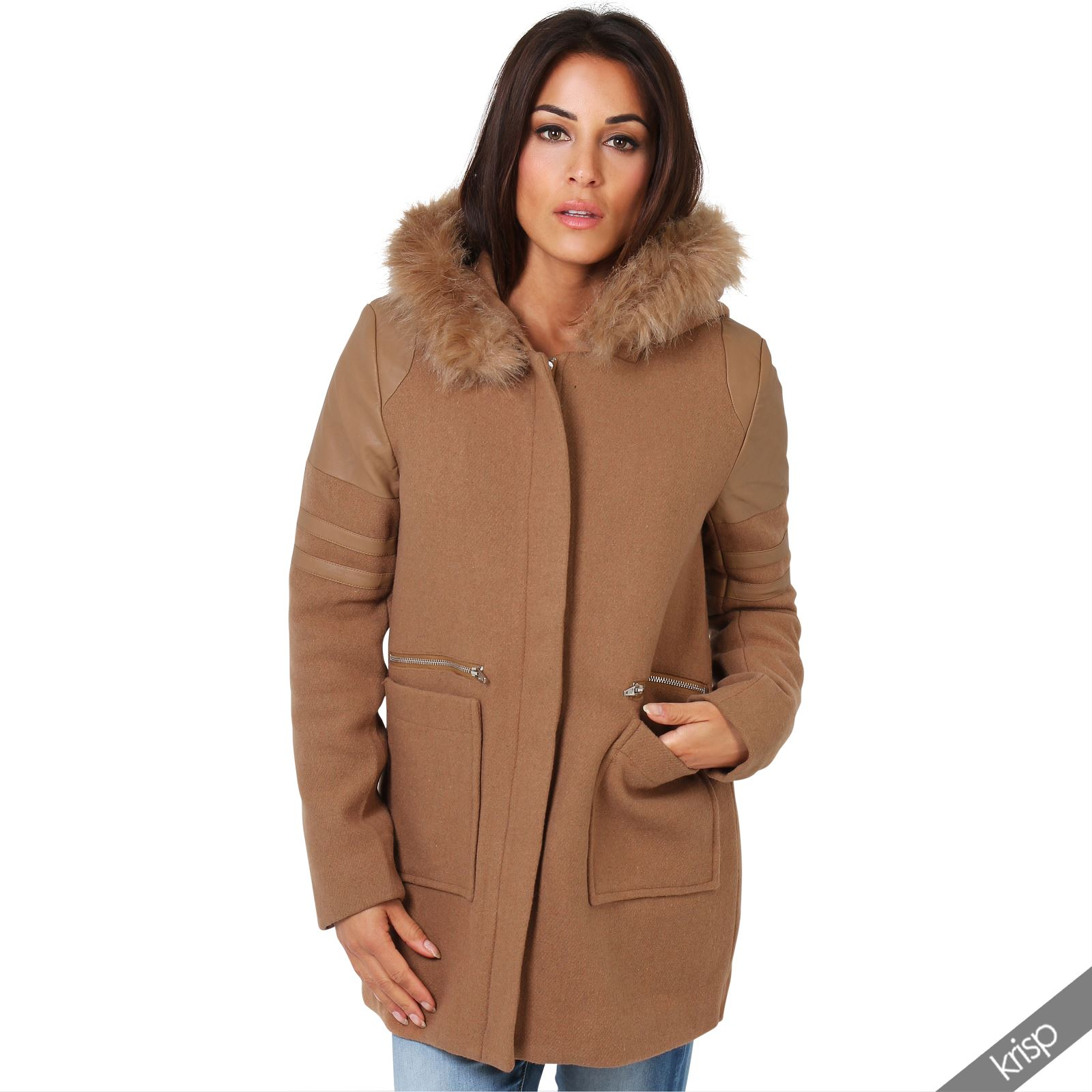 Hooded womens coat