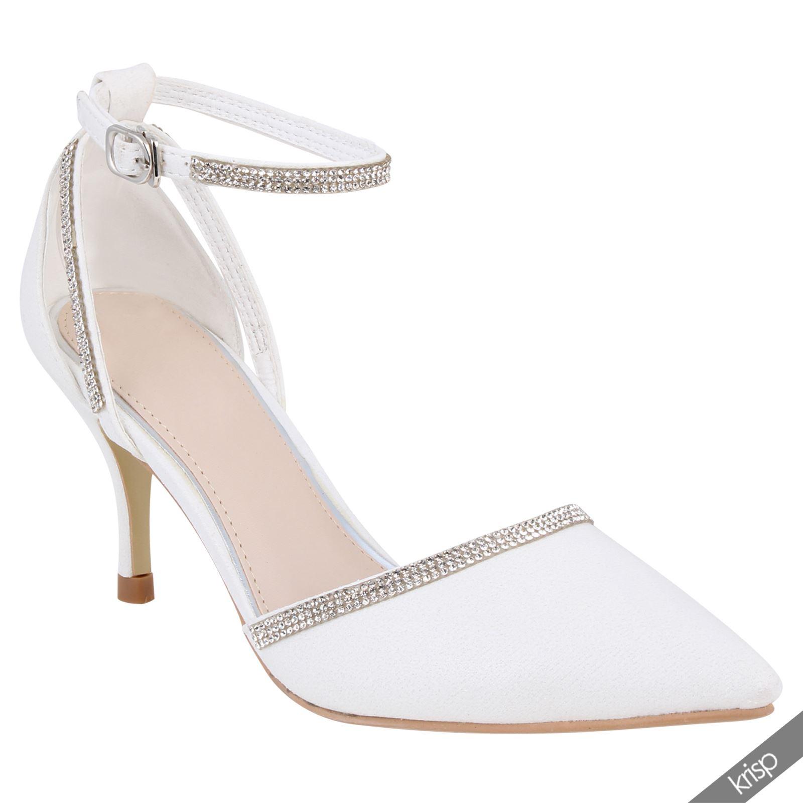 damen wei e pumps high heels sandalen stilettos. Black Bedroom Furniture Sets. Home Design Ideas