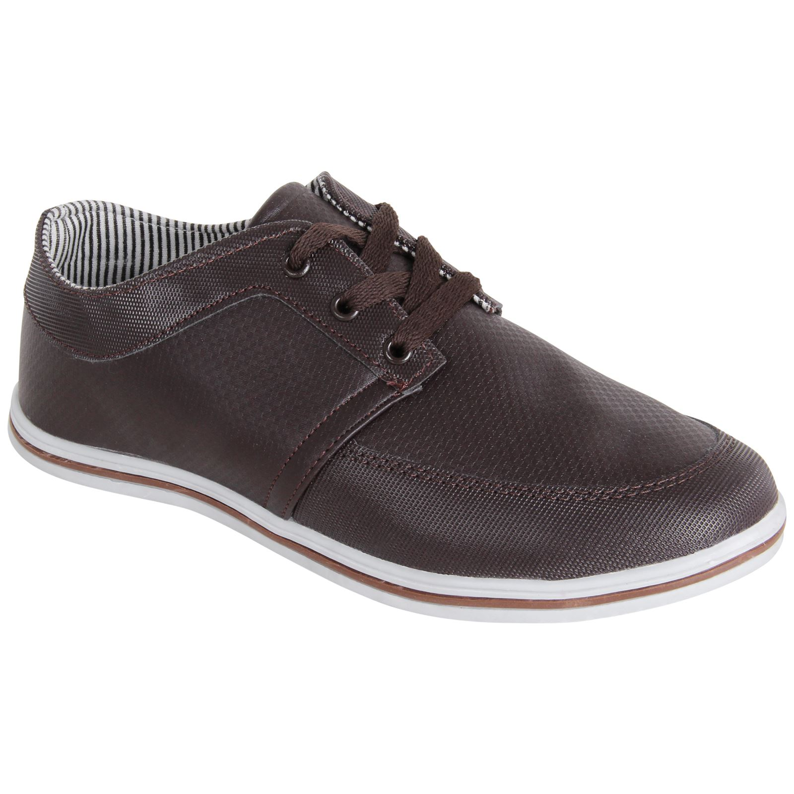 mens designer leather smart casual trainers deck boat