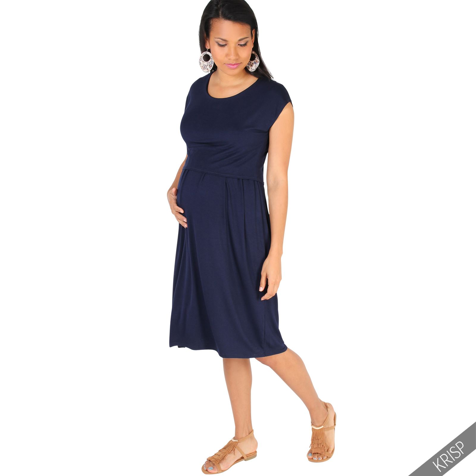 Whether you're looking for professional or casual plus size maternity clothes you'll find the look you want here. This assortment include jersey tops, scoop neck dresses, bermuda shorts and khaki pants. Stock up on several styles that are both trendy and affordable.