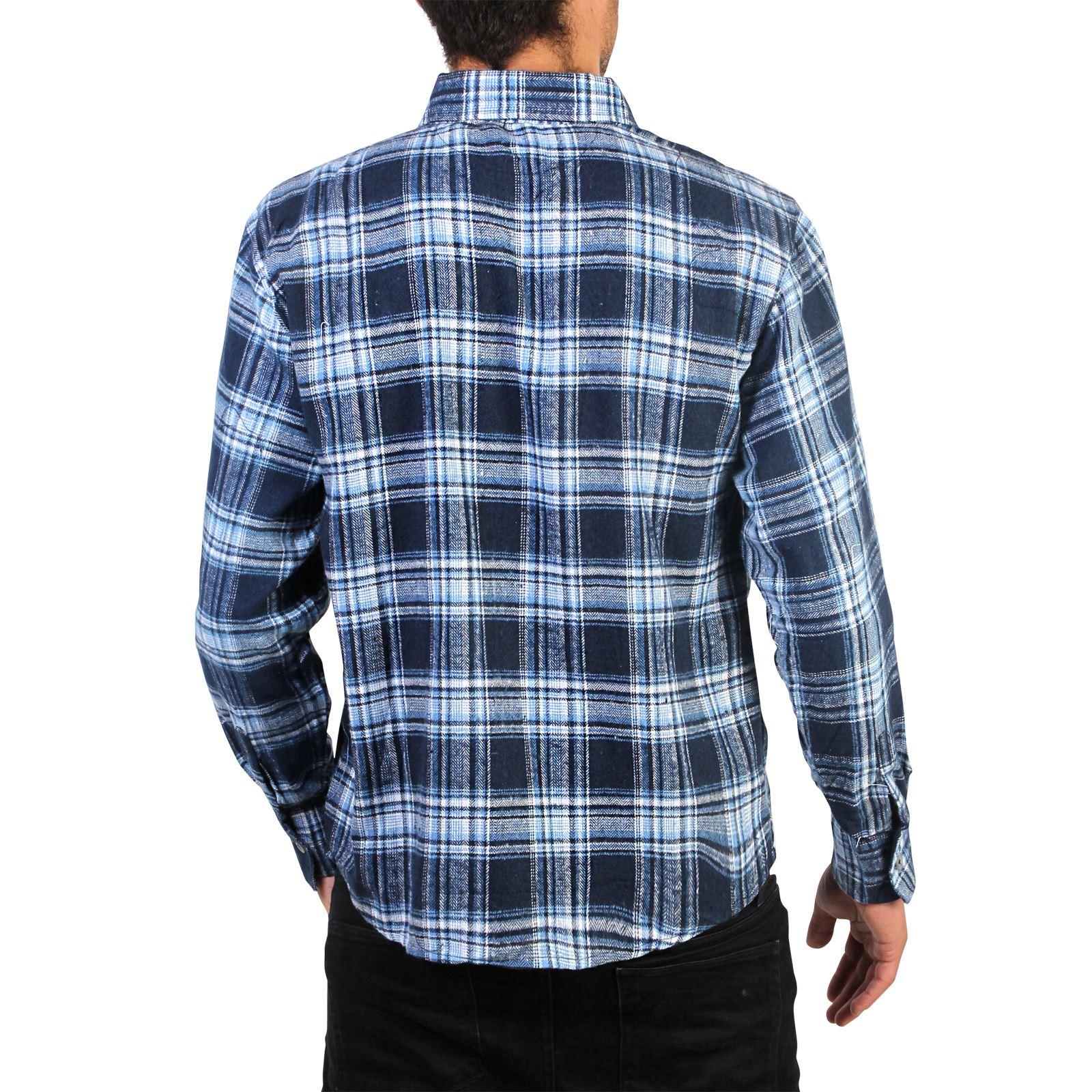 mens flannel brushed cotton lumberjack check long sleeve. Black Bedroom Furniture Sets. Home Design Ideas