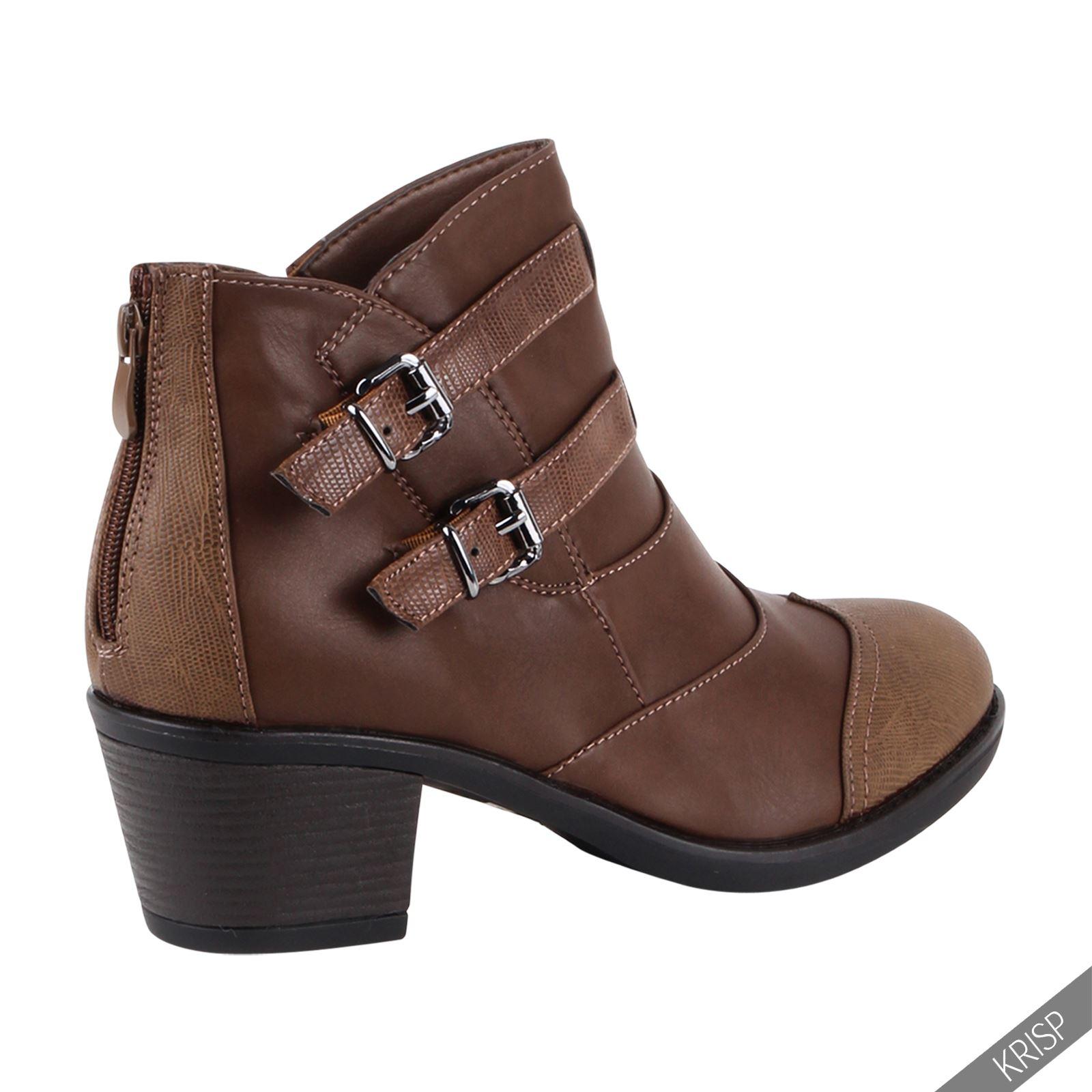 Excellent Womens Ladies Vintage Lace Up Low Heel Brogue Ankle Boots Shoes Plus