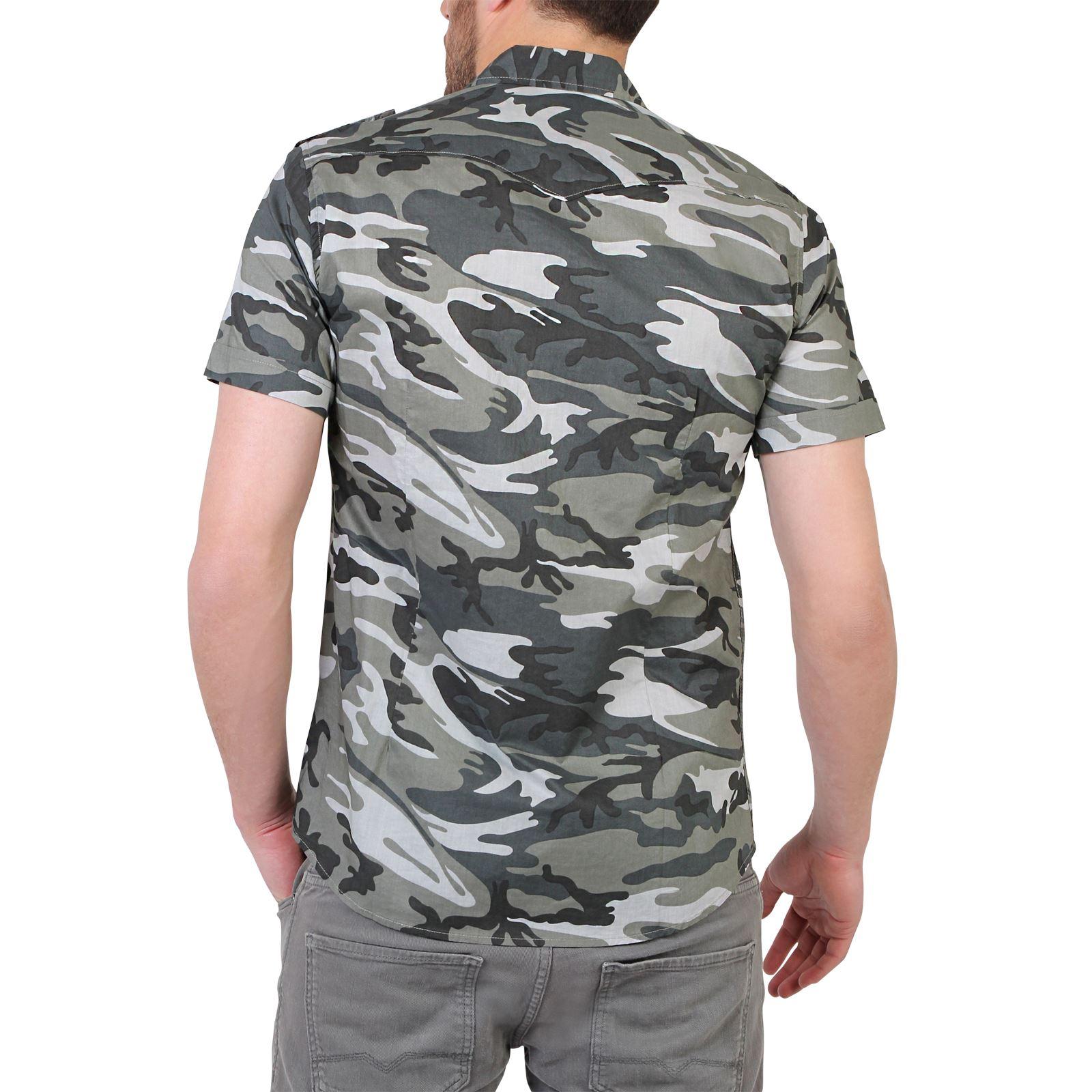herren tarnfarben combat camouflage kurzarm sommer hemd baumwolle s m l xl xxl ebay. Black Bedroom Furniture Sets. Home Design Ideas