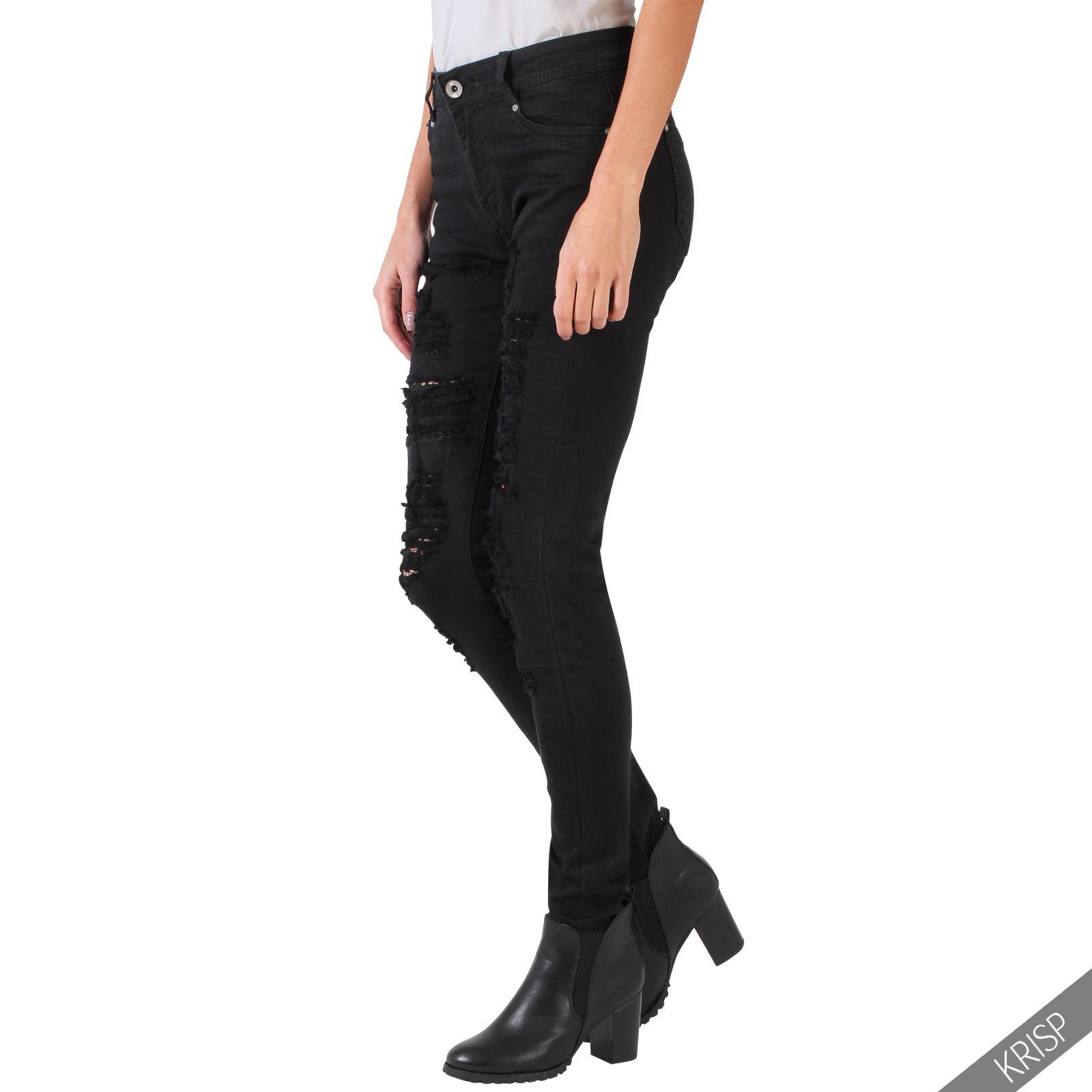 Amazing Ripped Jeans Skinny Jeans Women Slim Fashion Denim Long Pencil Pants