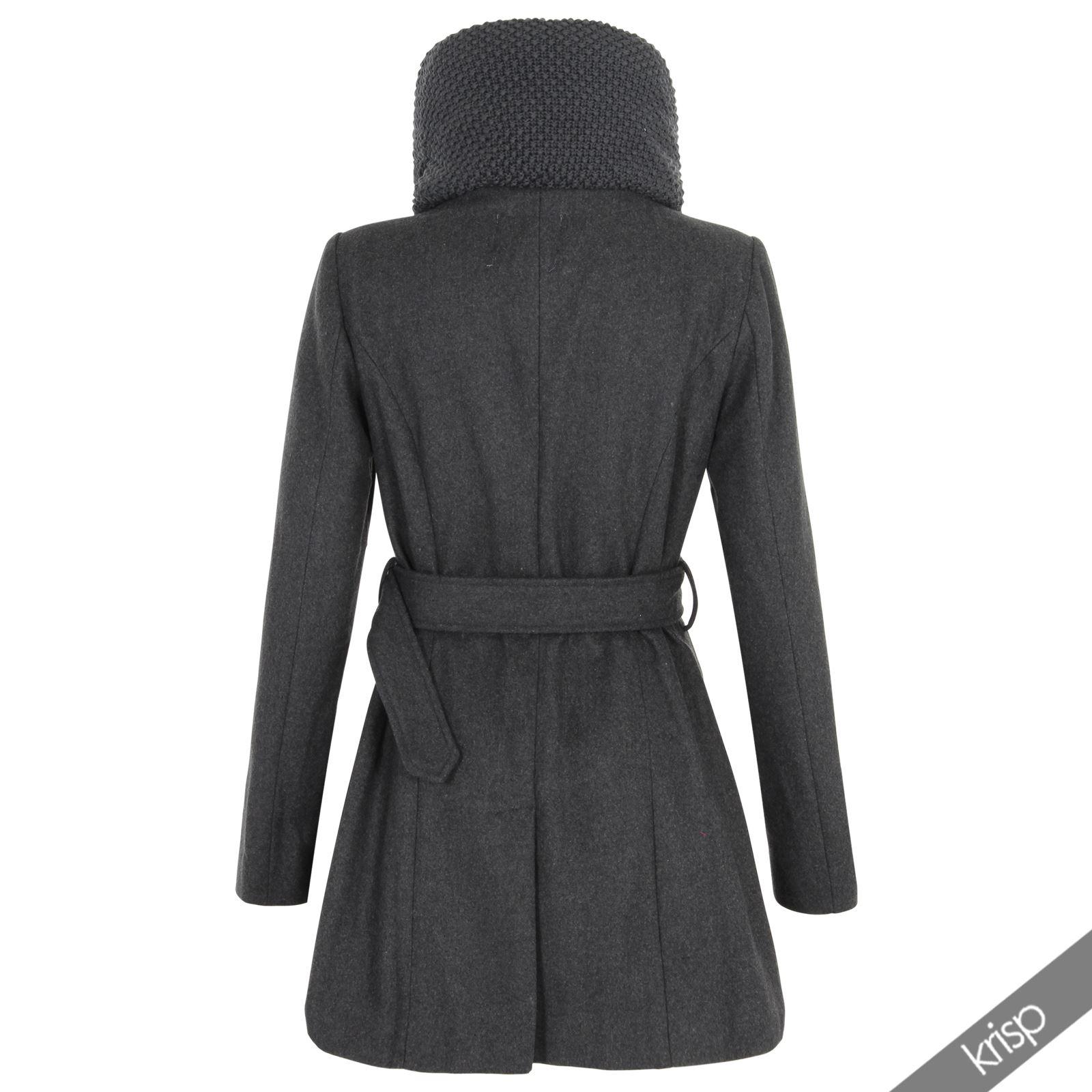 krisp damen winter mantel mit schalkragen wollmantel. Black Bedroom Furniture Sets. Home Design Ideas
