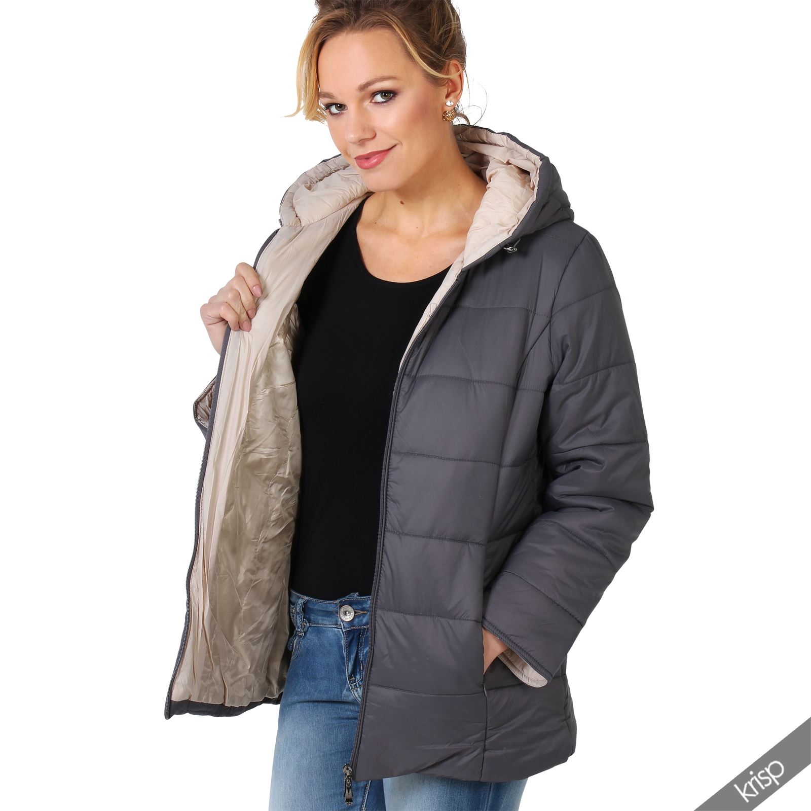 Hooded anorak jacket women
