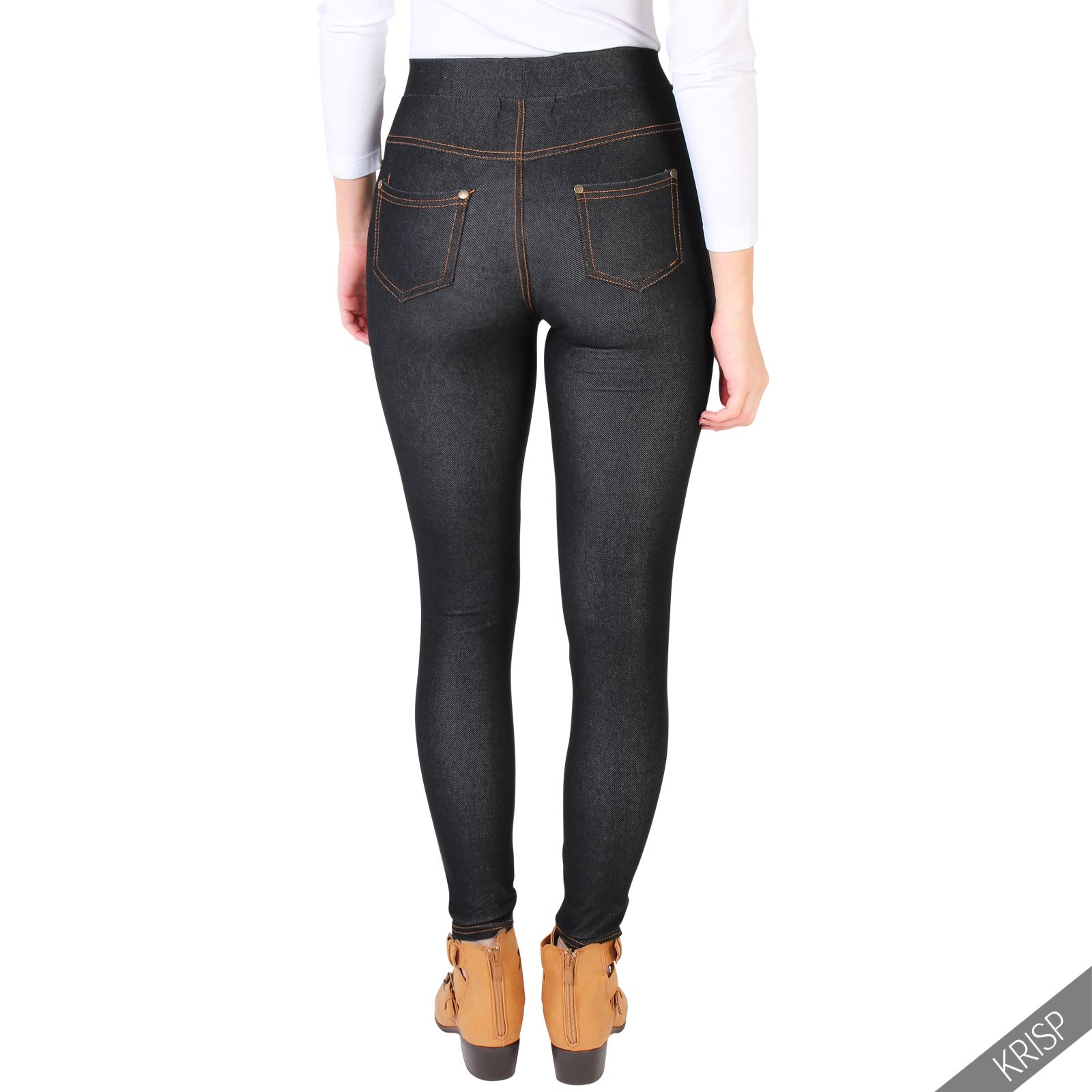 Jeggings, the most form-fitting of all our jeans, are a trendy choice that work well with dressy going-out tops and heels. Despite being very fitted from waist to ankle, they offer lots of stretch for a comfy fit.