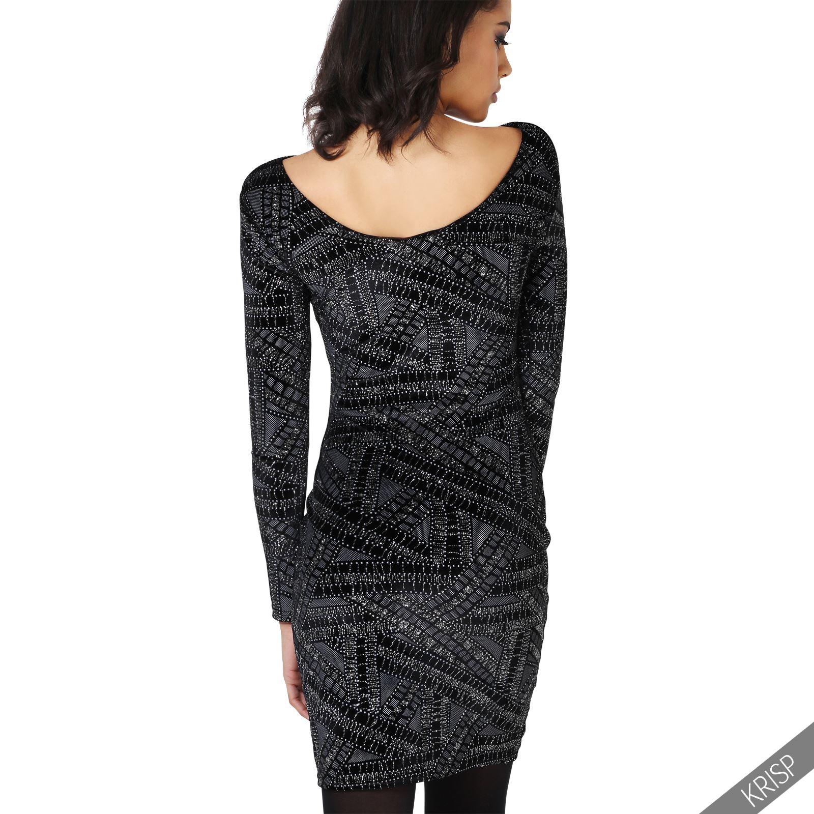 damen elegantes langarm kleid gro e gr en festlich samt. Black Bedroom Furniture Sets. Home Design Ideas