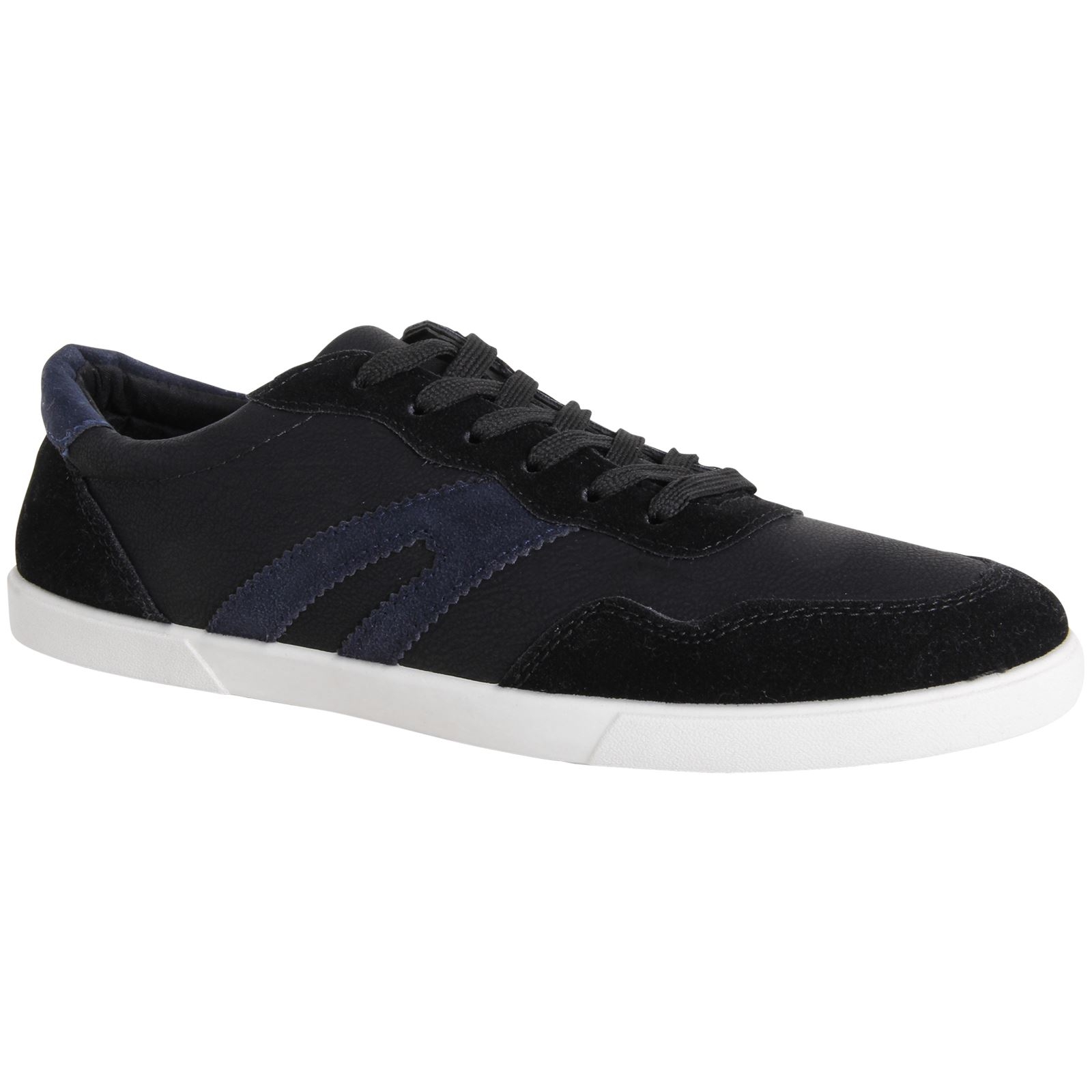 mens designer casual retro shoes leather suede lace up