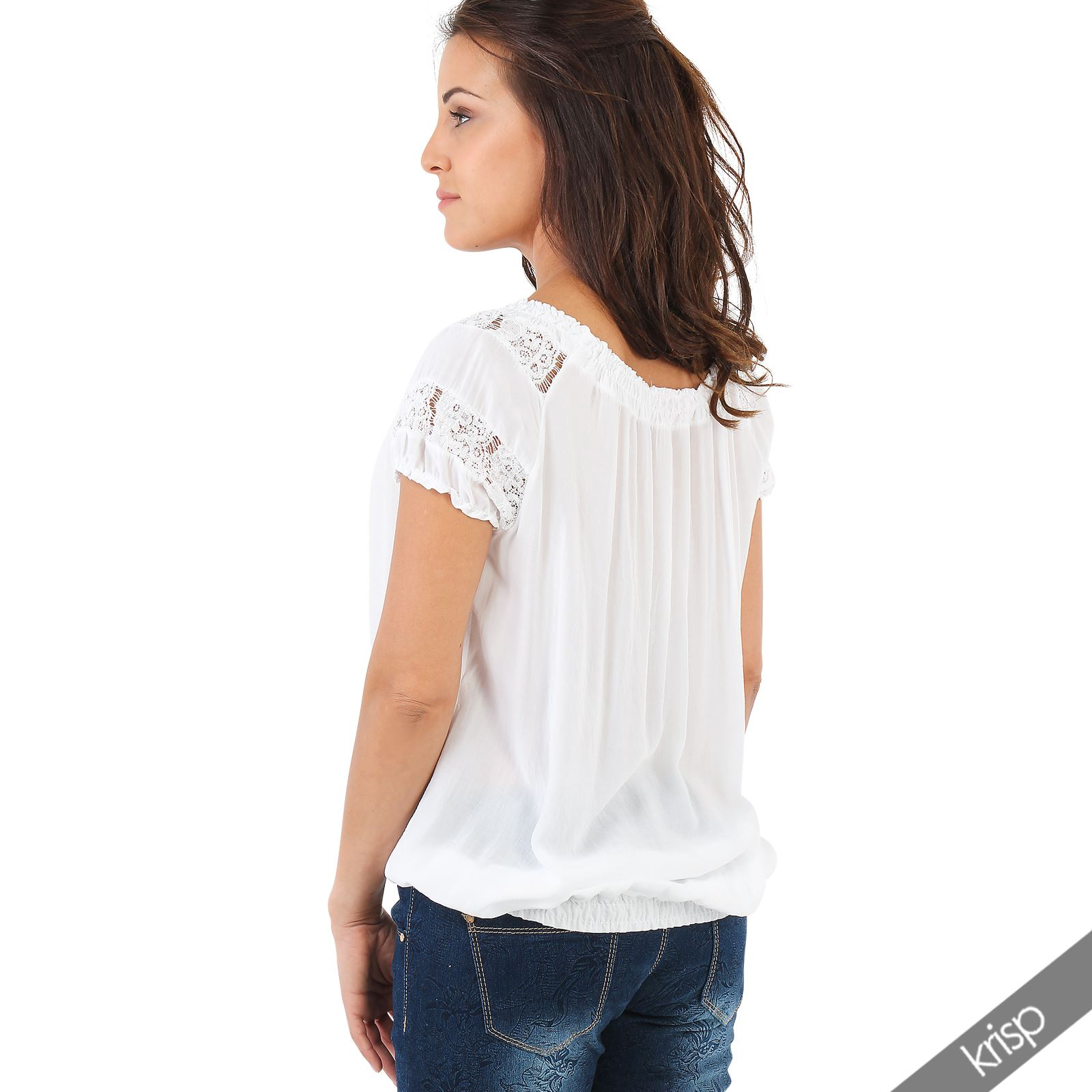 Womens Shirred Blouses 113