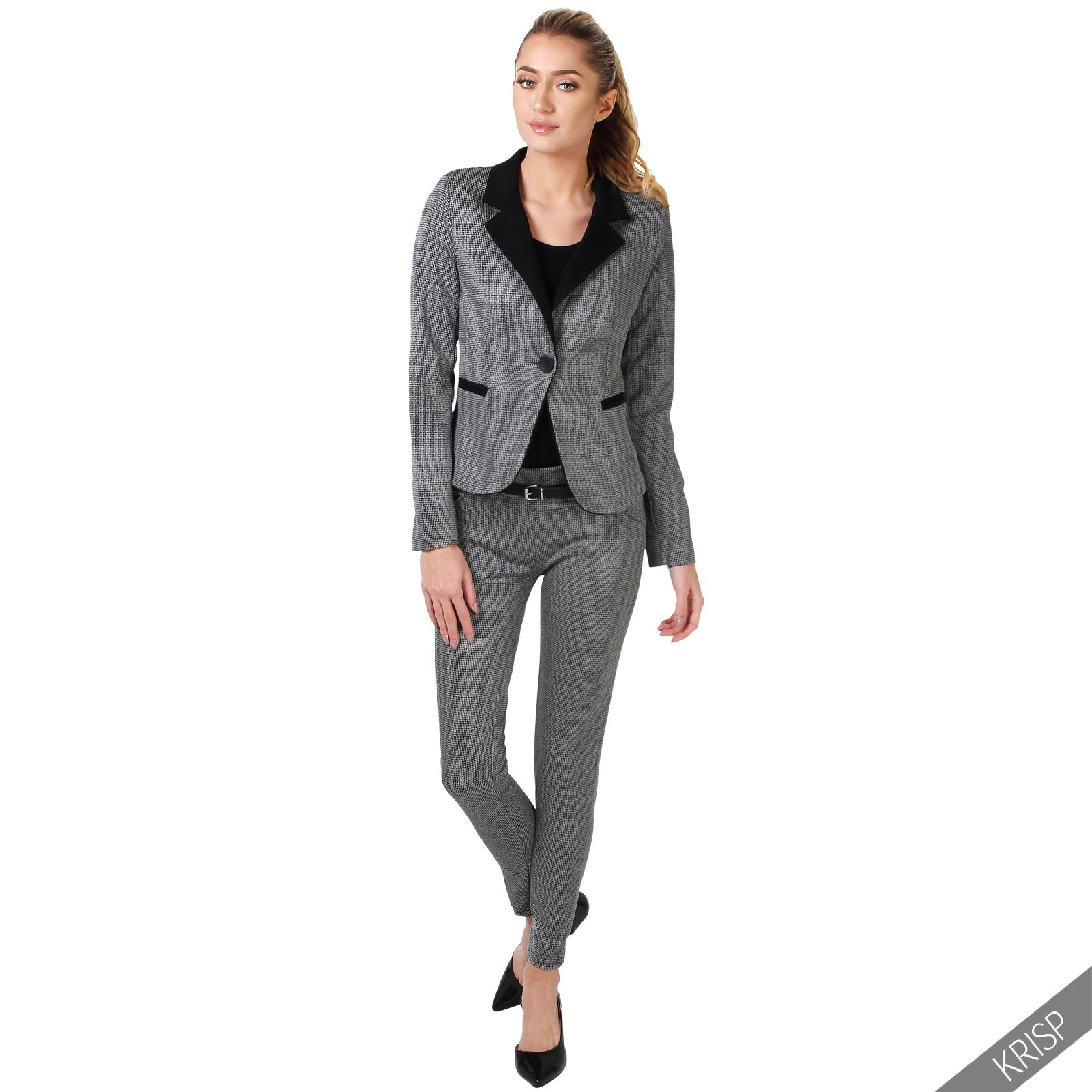 ladies womens fashion trousers blazer jacket suit 2 piece