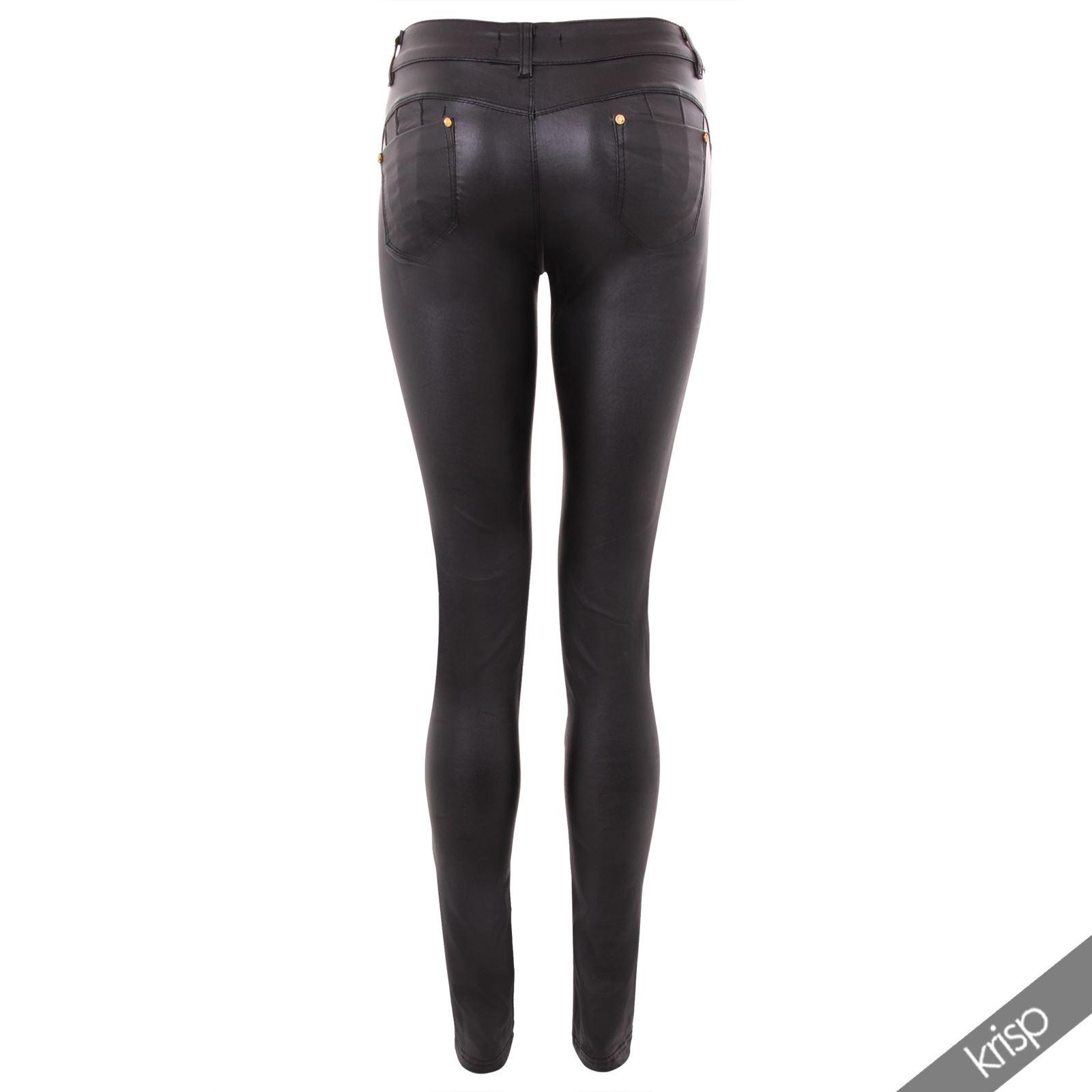 pantalon Femme Cuir Pantalon Moulant Moulant Noir 4Aj5LR