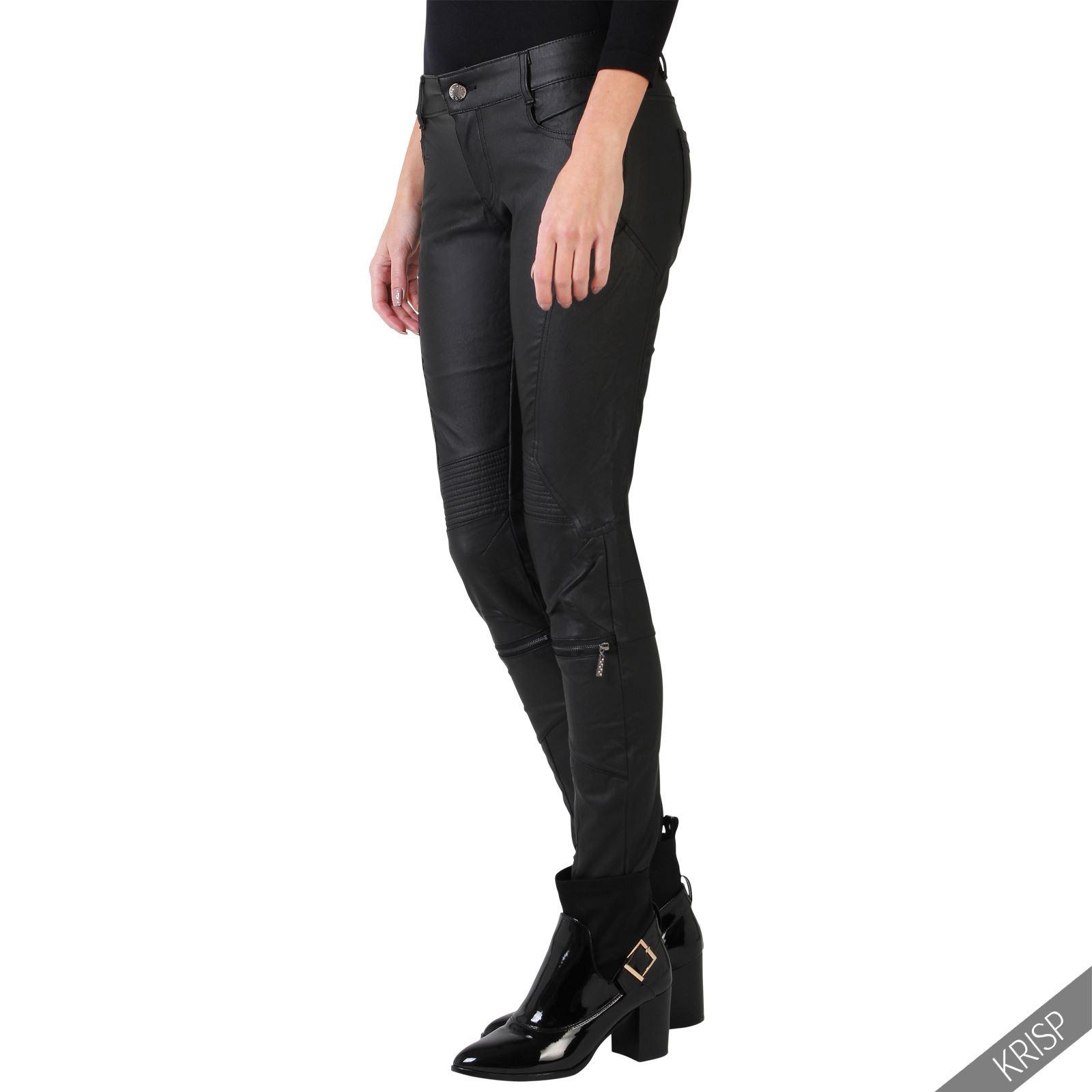 New KAUFMANFRANCO Womens Leather Skinny Pants  Allfabclothing