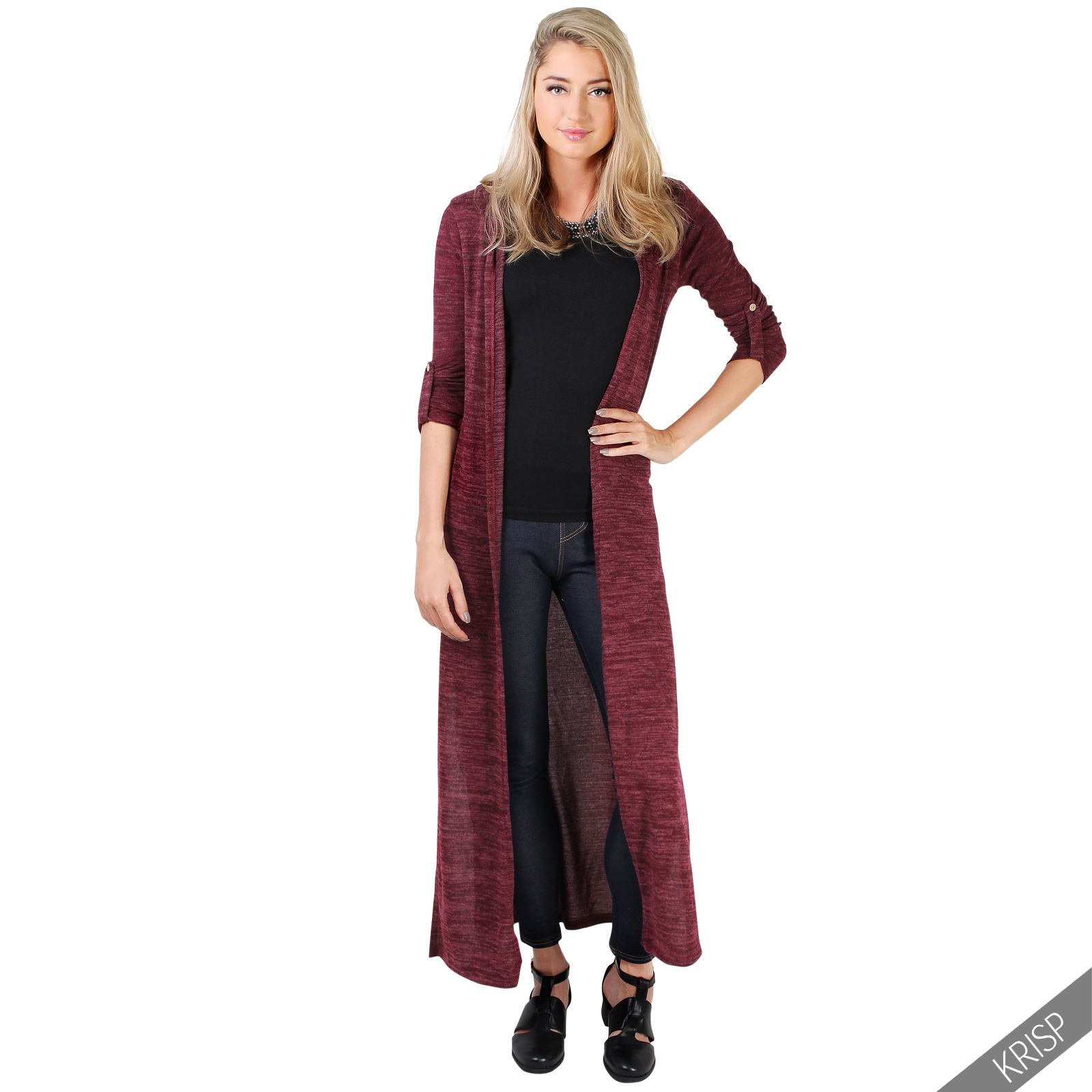 womens soft knit hooded long cardigan sweater shrug duster. Black Bedroom Furniture Sets. Home Design Ideas