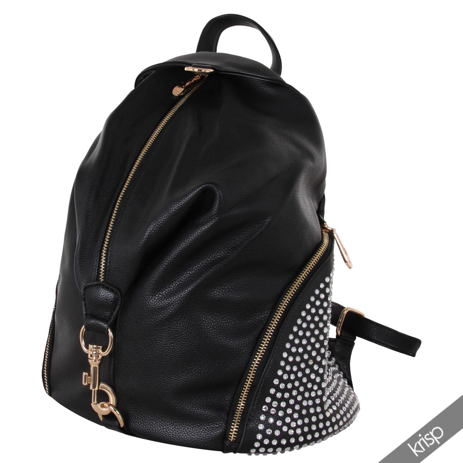 damen rucksack schultertasche mit strass rei verschluss. Black Bedroom Furniture Sets. Home Design Ideas