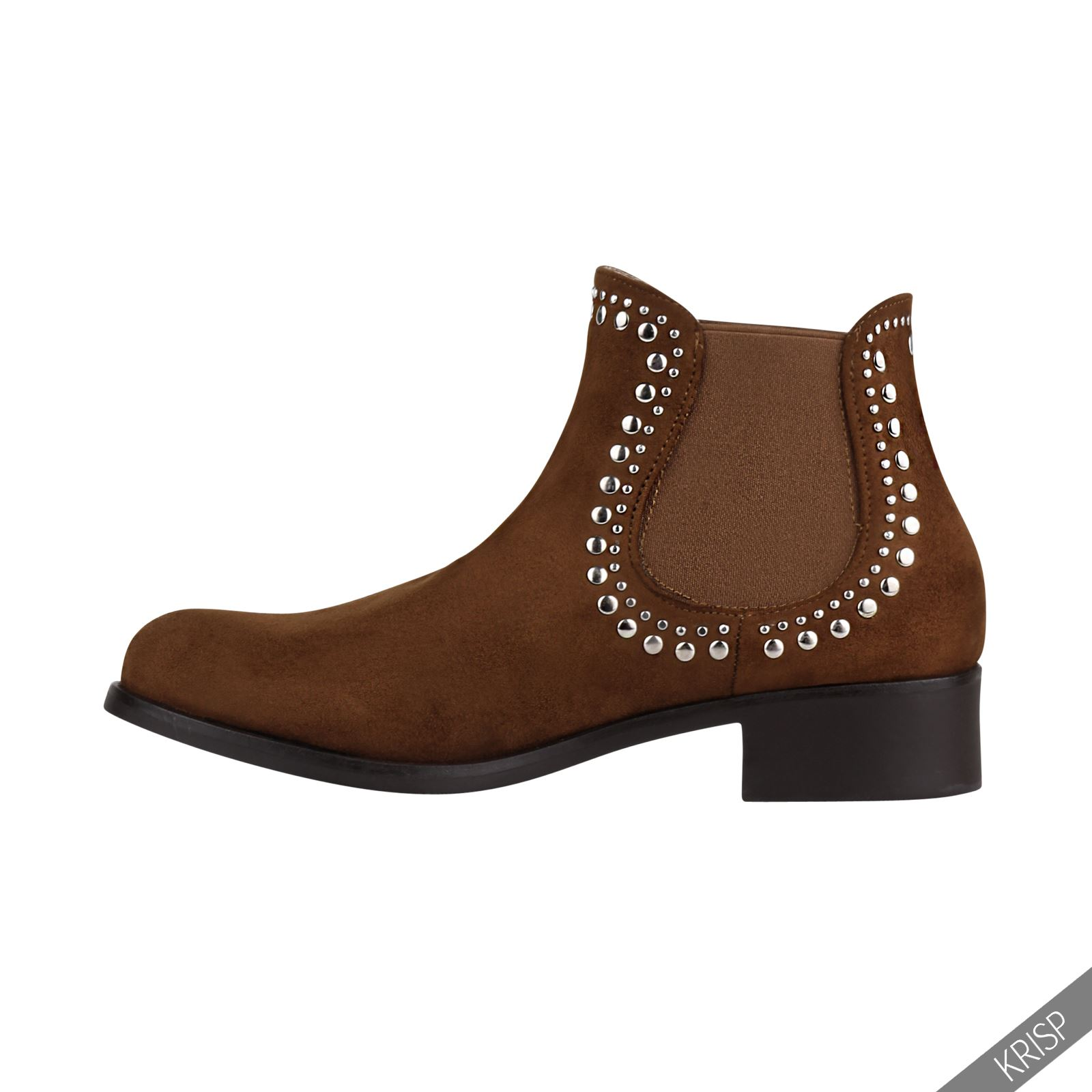 womens studded low heel chelsea ankle boots cowboy