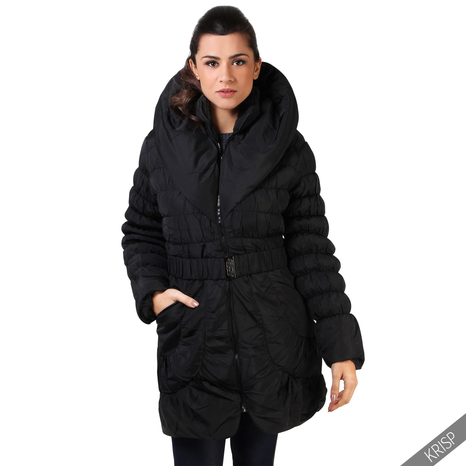 damen warme gesteppte winterjacke parka jacke xxl. Black Bedroom Furniture Sets. Home Design Ideas