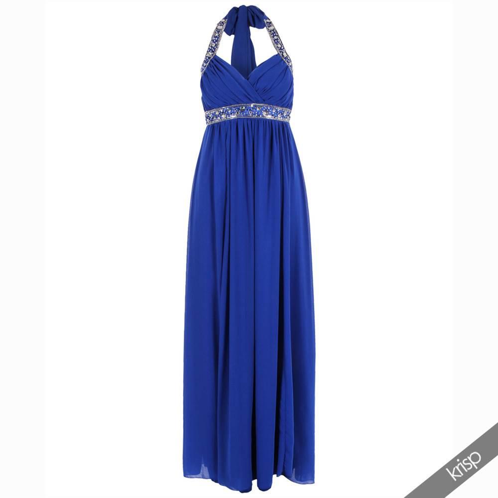 Maxi robe empire femme voile mousseline longue sequin for Robe maxi au mariage