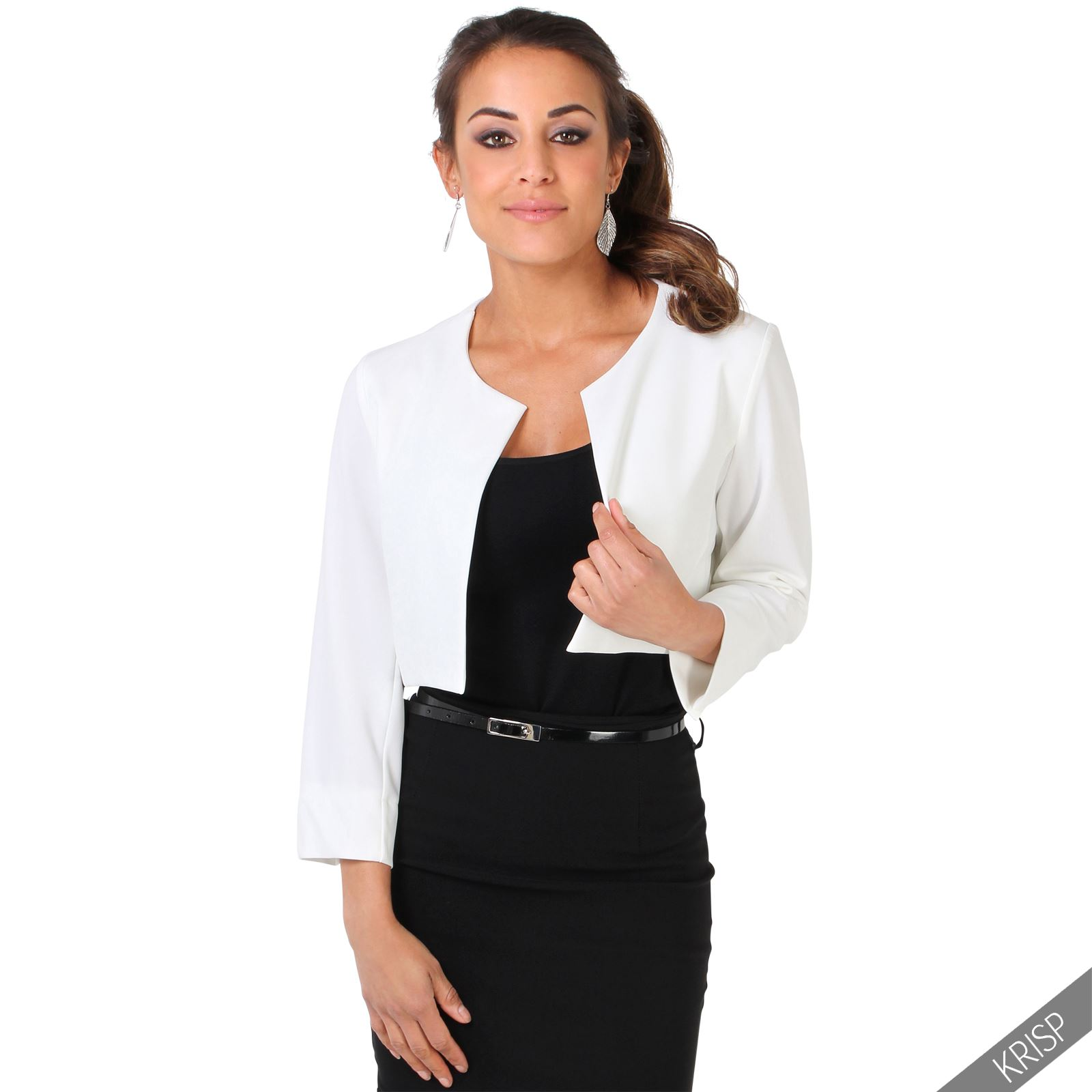 damen kurzer blazer bolero jacke business abendmode festlich hochzeit elegant ebay. Black Bedroom Furniture Sets. Home Design Ideas