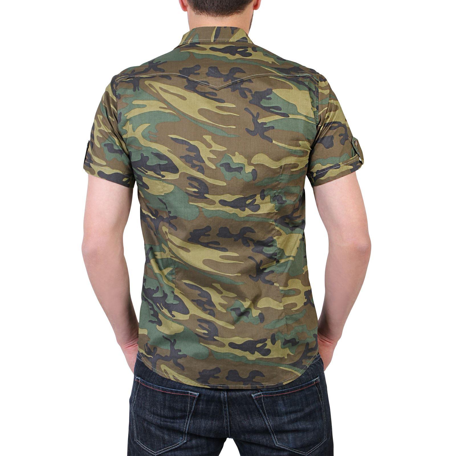 herren camouflage tarnfarben combat kurzarm sommer hemd baumwolle s m l xl xxl ebay. Black Bedroom Furniture Sets. Home Design Ideas