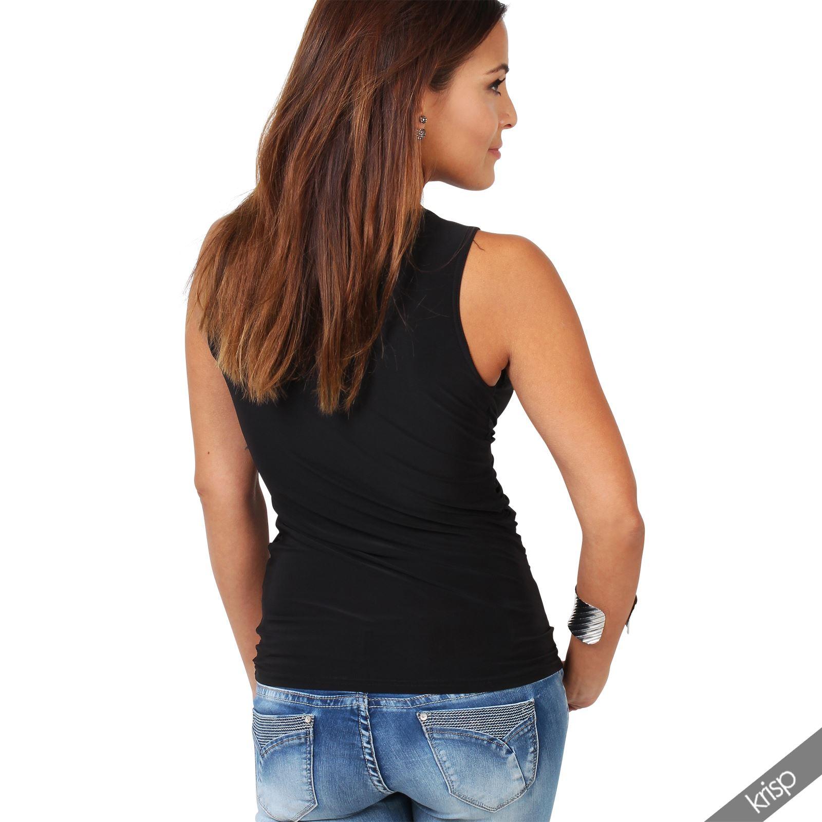 Krisp femme top haut fronc boucle jersey stretch col en v et f te soir e sexy ebay - Haut sexy femme ...