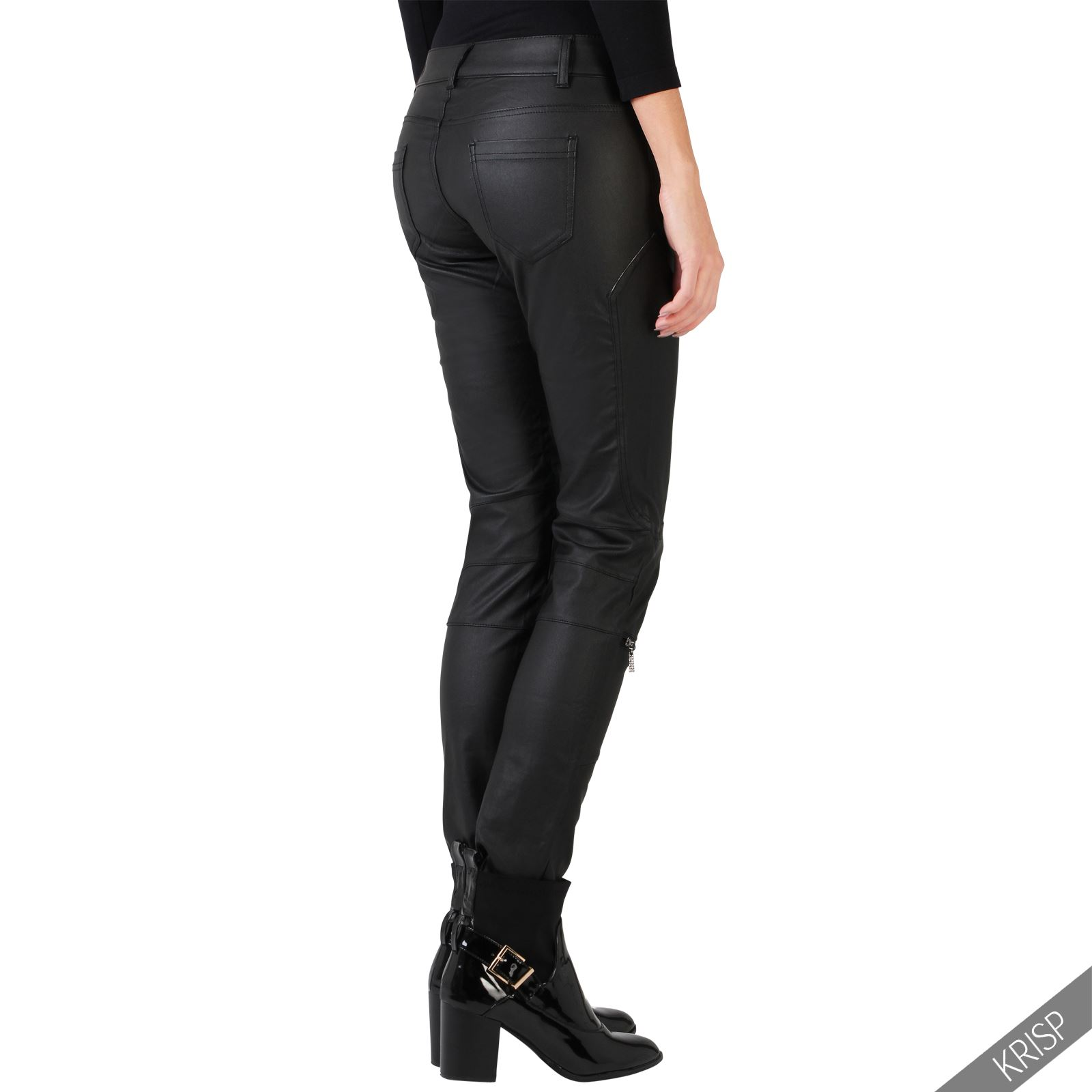 Simple Brand Pants Skinny Leather Pants In Black This Item Is Currently