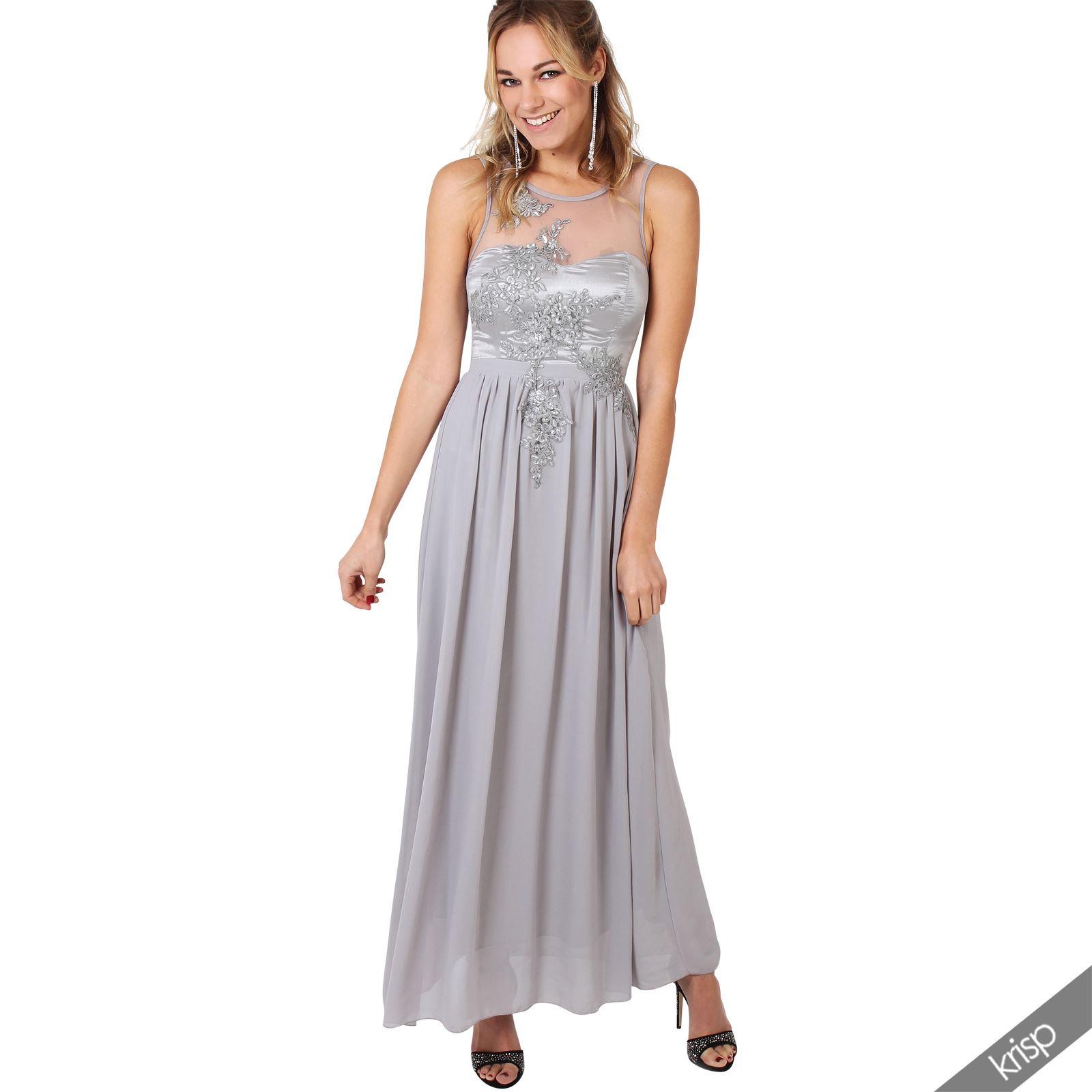 krisp femme robe longue de soir e chic fete ebay. Black Bedroom Furniture Sets. Home Design Ideas