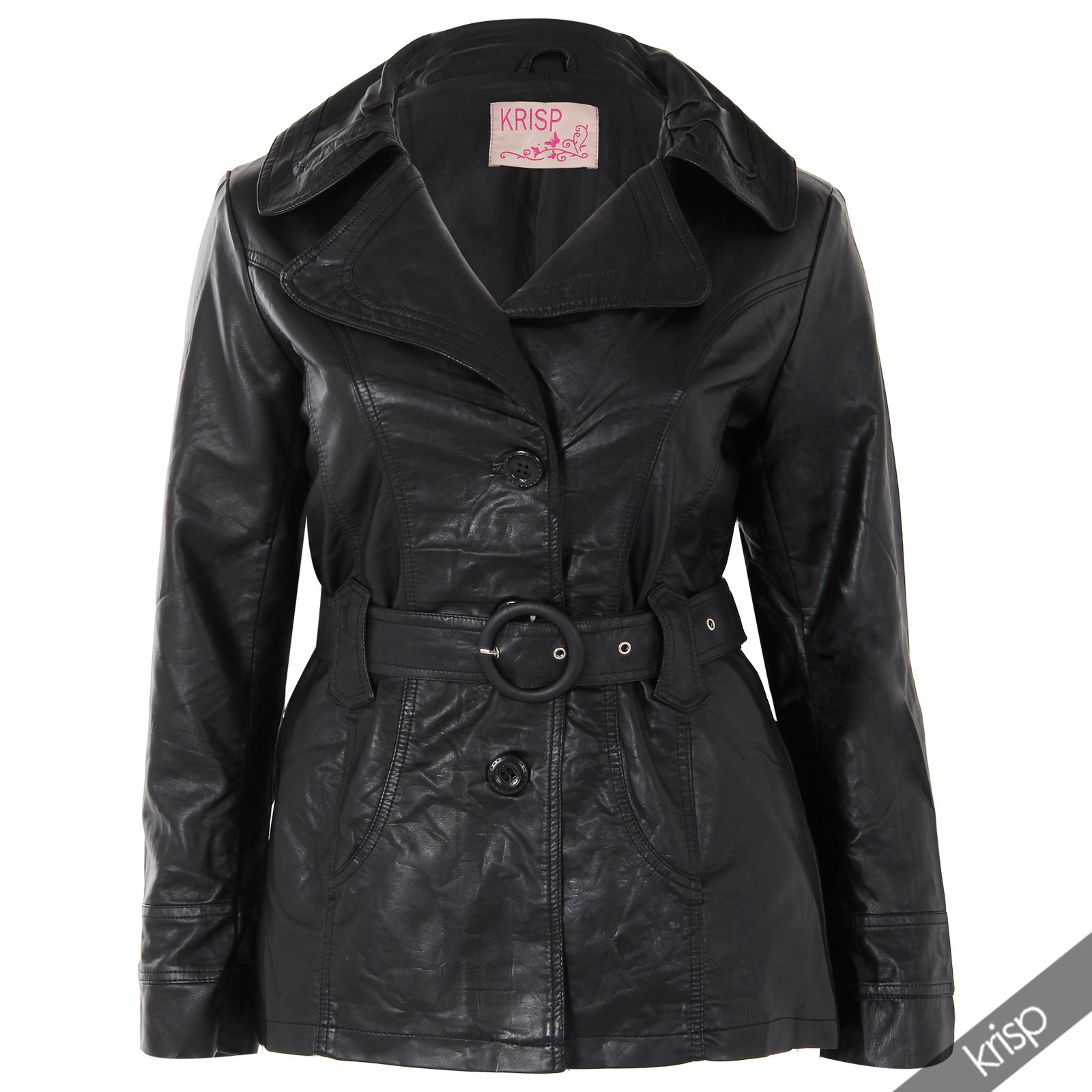 Plus size womens leather coats