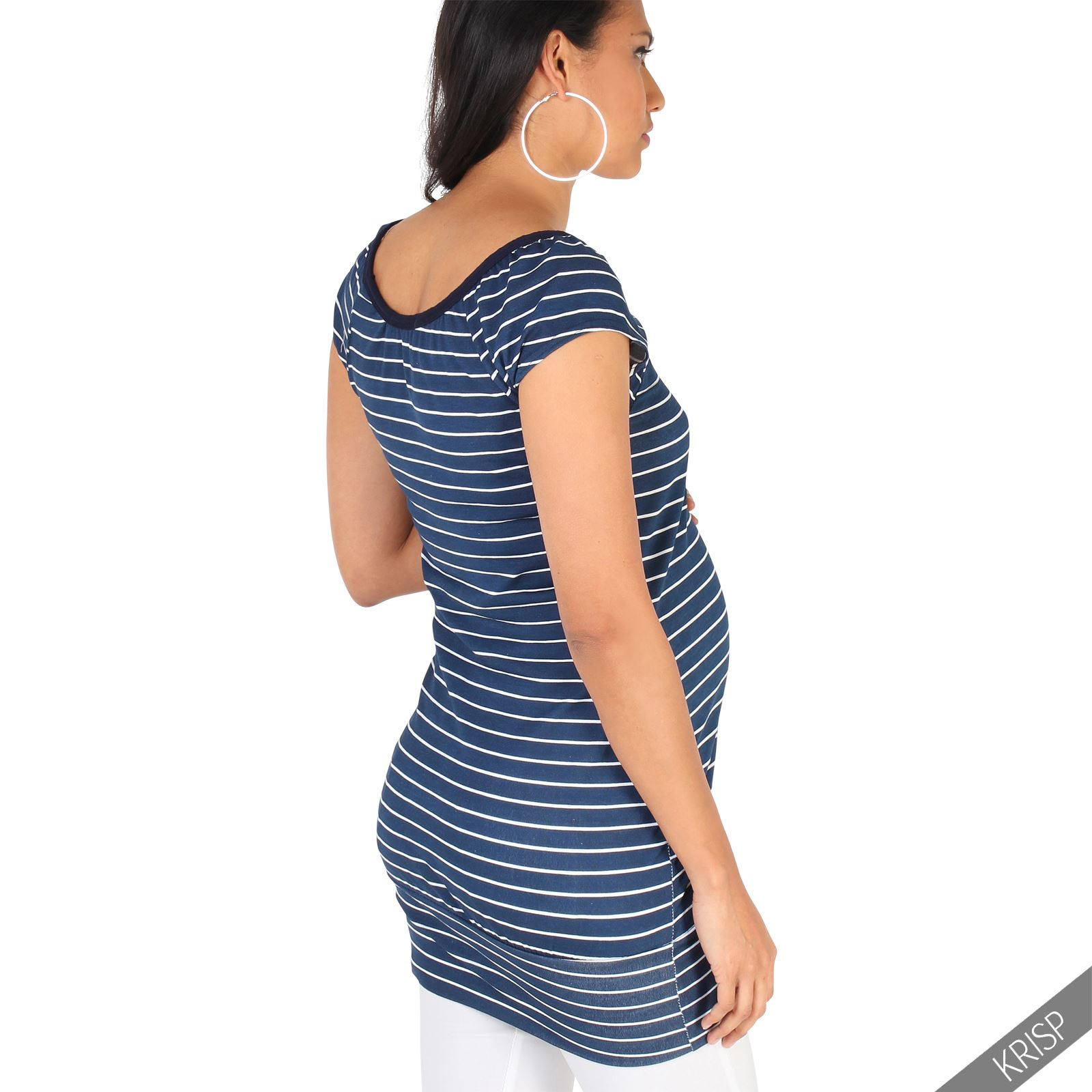 Maternity Womens Striped Long Casual T Shirt Vest Top ...