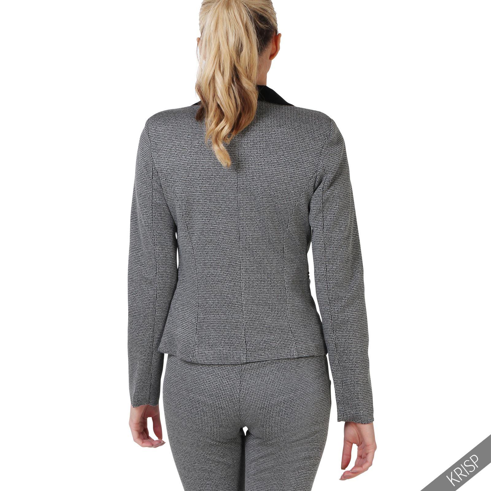 femmes ensemble veste blazer pantalon cigarette pince. Black Bedroom Furniture Sets. Home Design Ideas