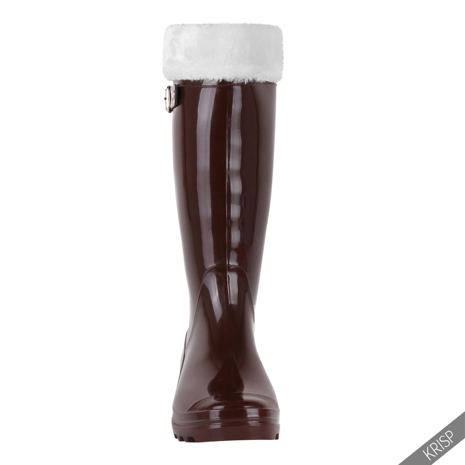 womens pyramid stud wellington calf boots patent rubber wellies ebay